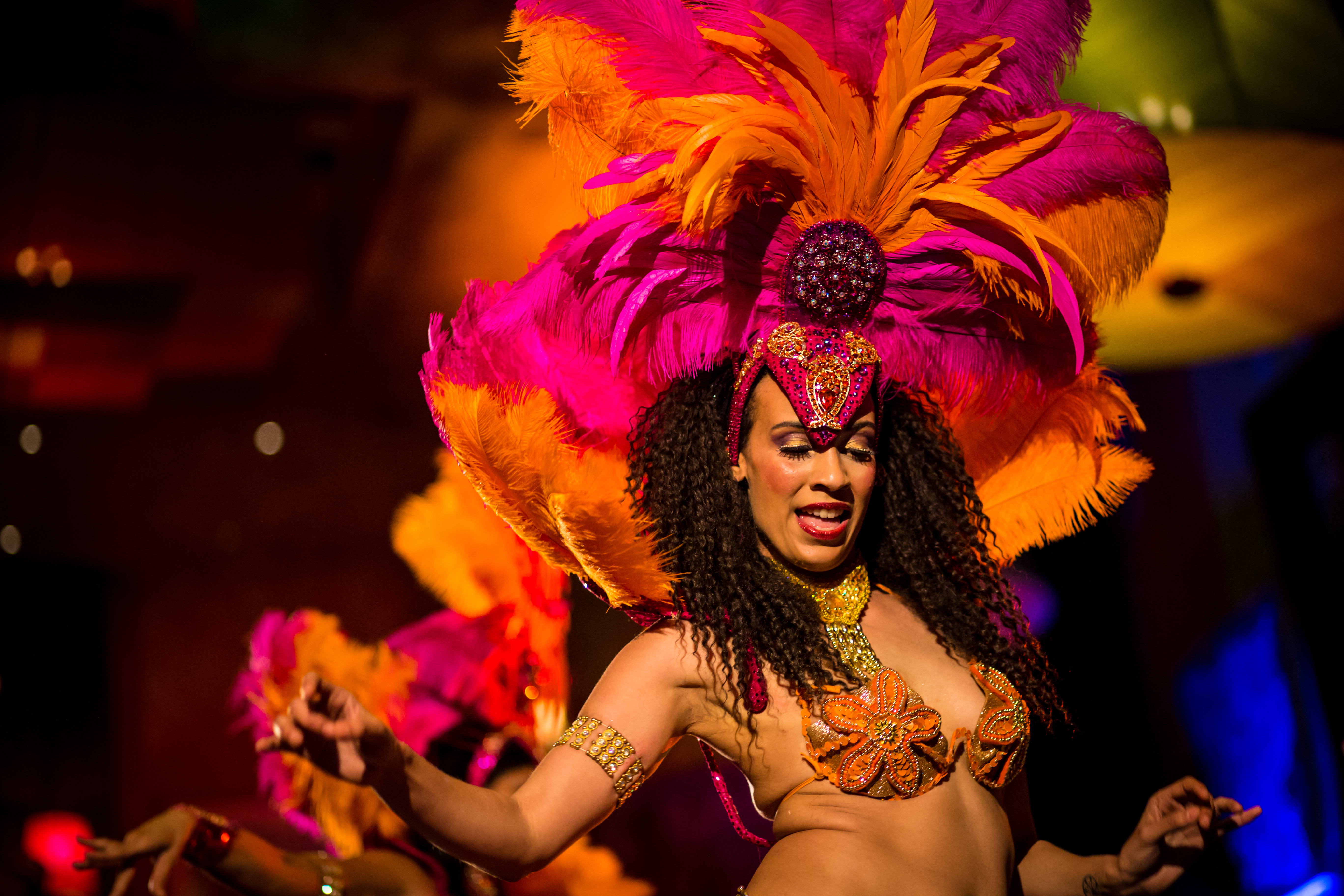 Samba dancers brought the Carnivale theme to life.