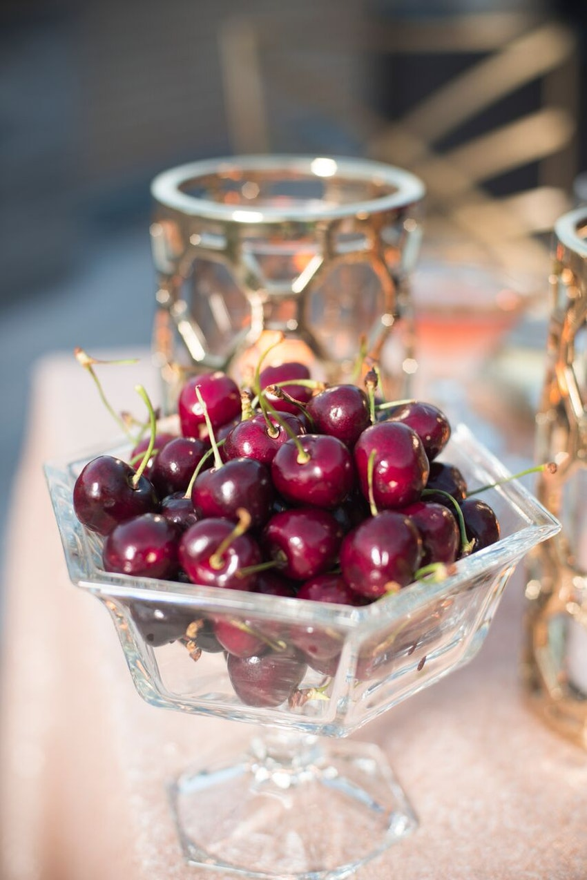 Michigan cherries are great for outdoor summer parties.