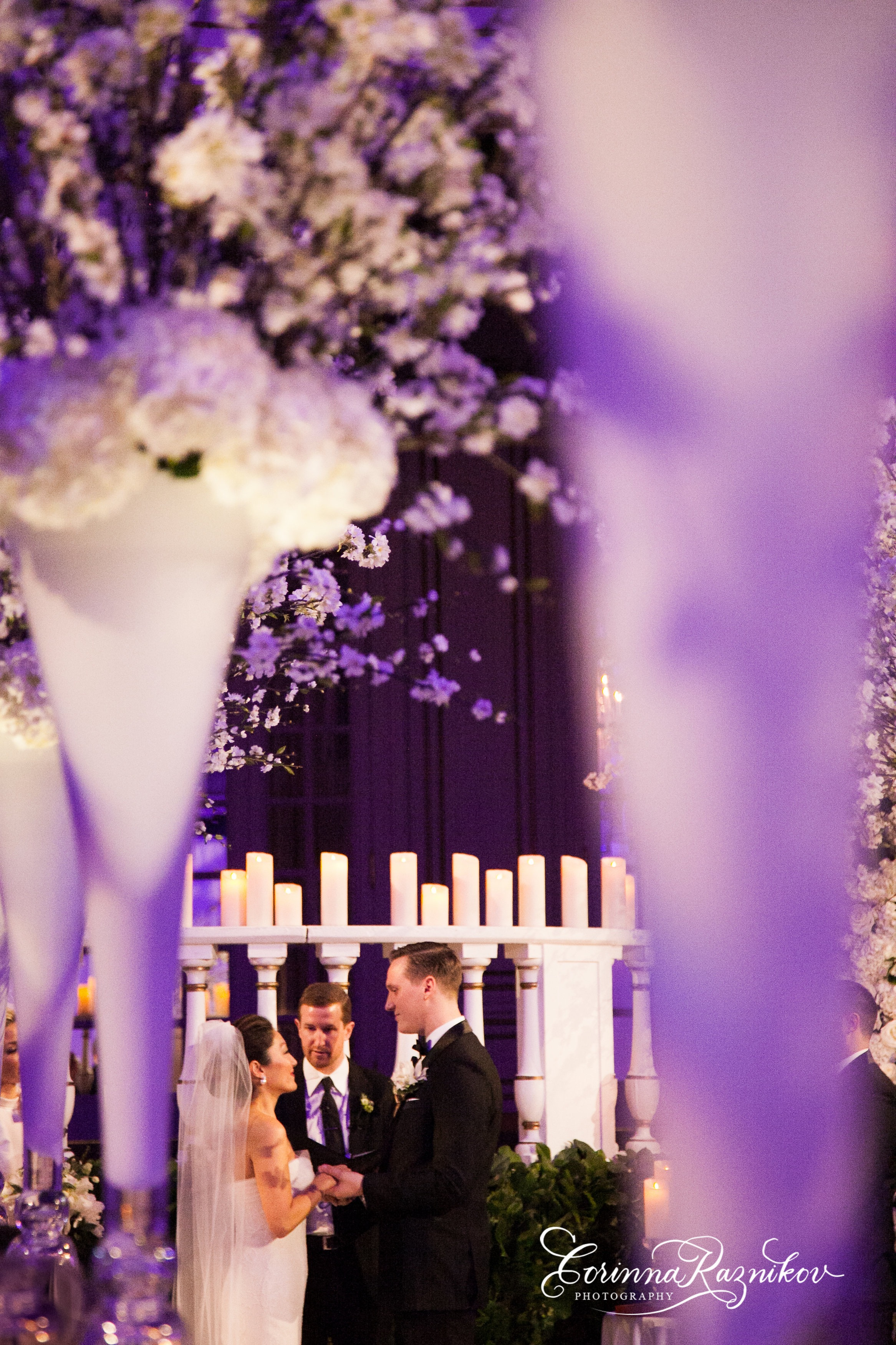 White Winter Wedding - Suzanne B. Lowell Lighting Design