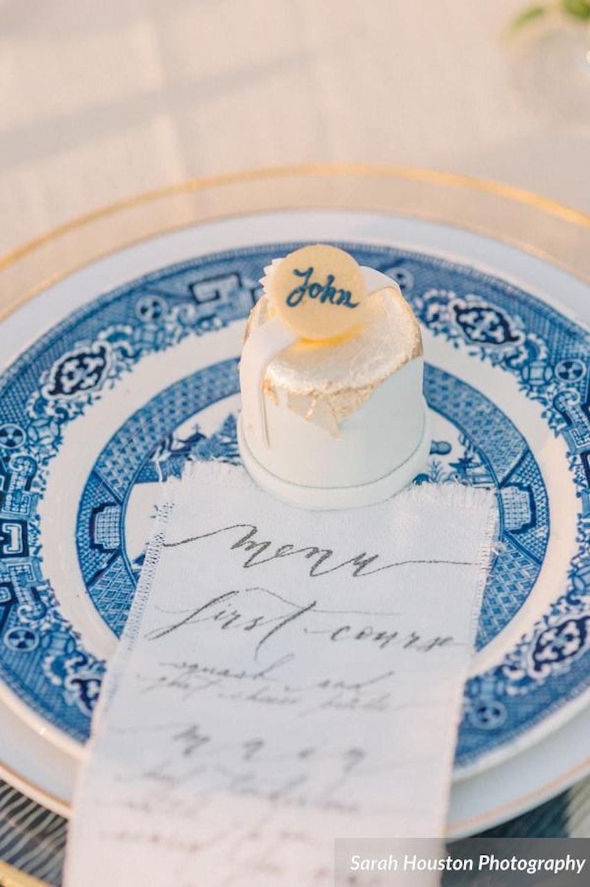 Bijou\'s Sweet Treats | Mini gold leaf personal wedding cakes with ...
