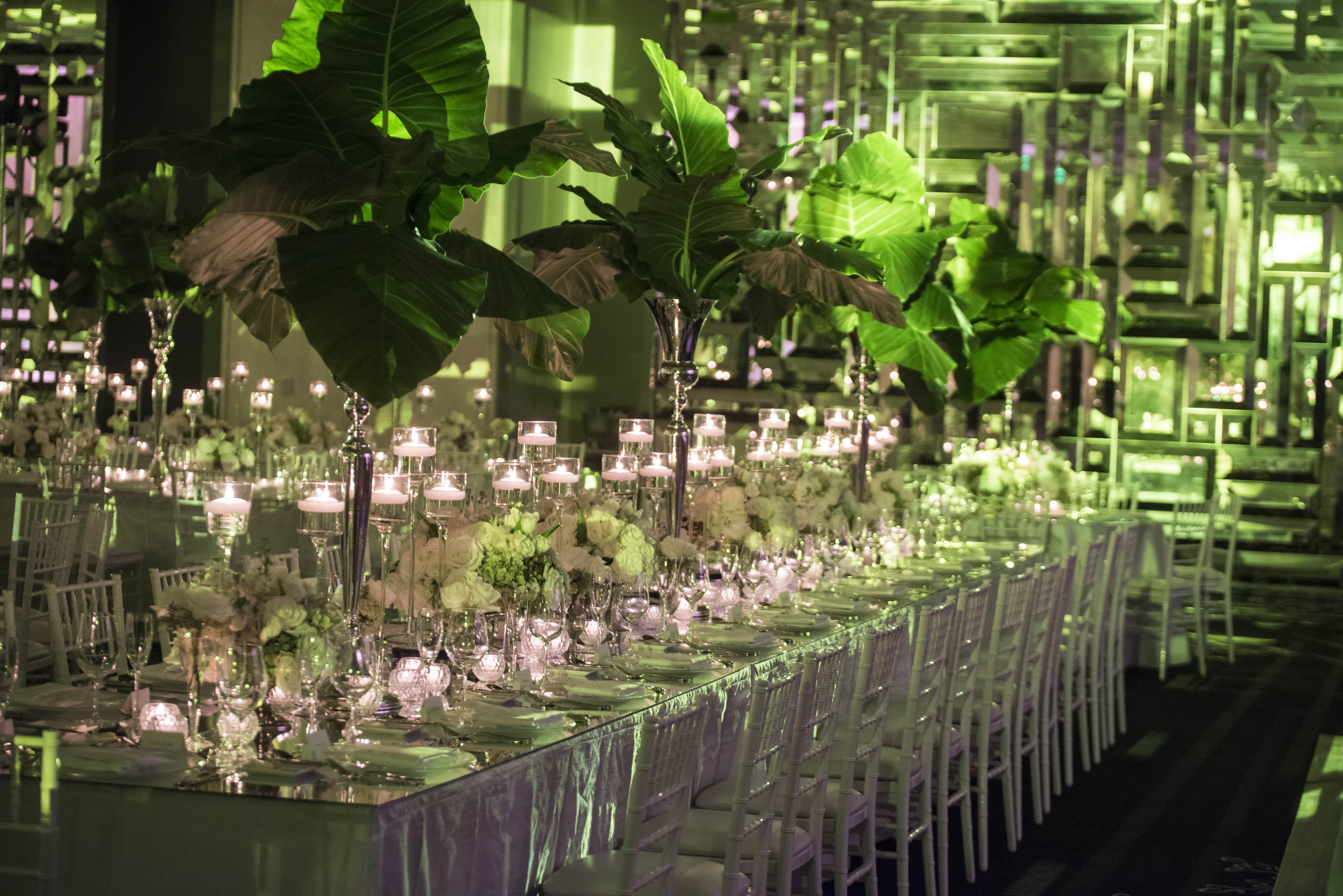 Tropical Green & White Wedding - Carrie Zack Events