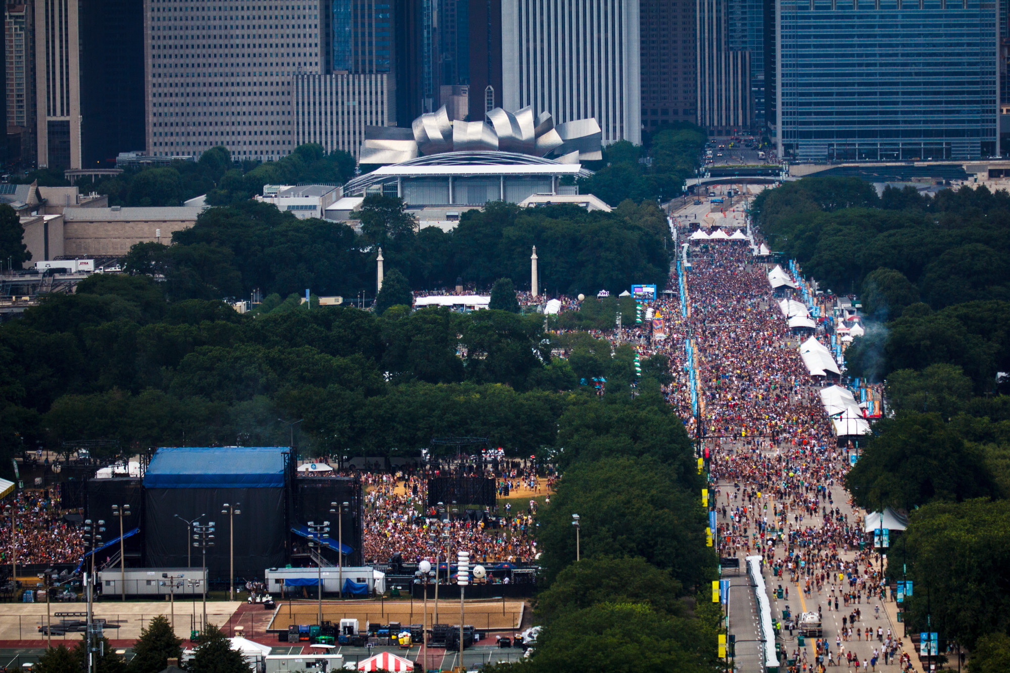 Lollapalooza music festival in Grant Park.