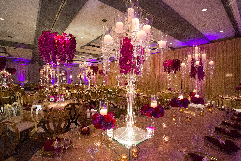 Elegant Indian Wedding Decor at The Henry Hotel in Detroit - Yanni Design Studio