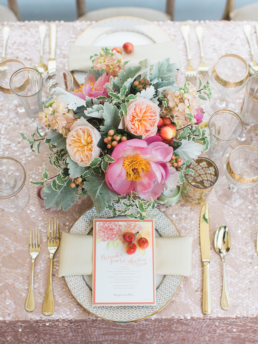 Contemporary Southern Wedding - BBJ Linen