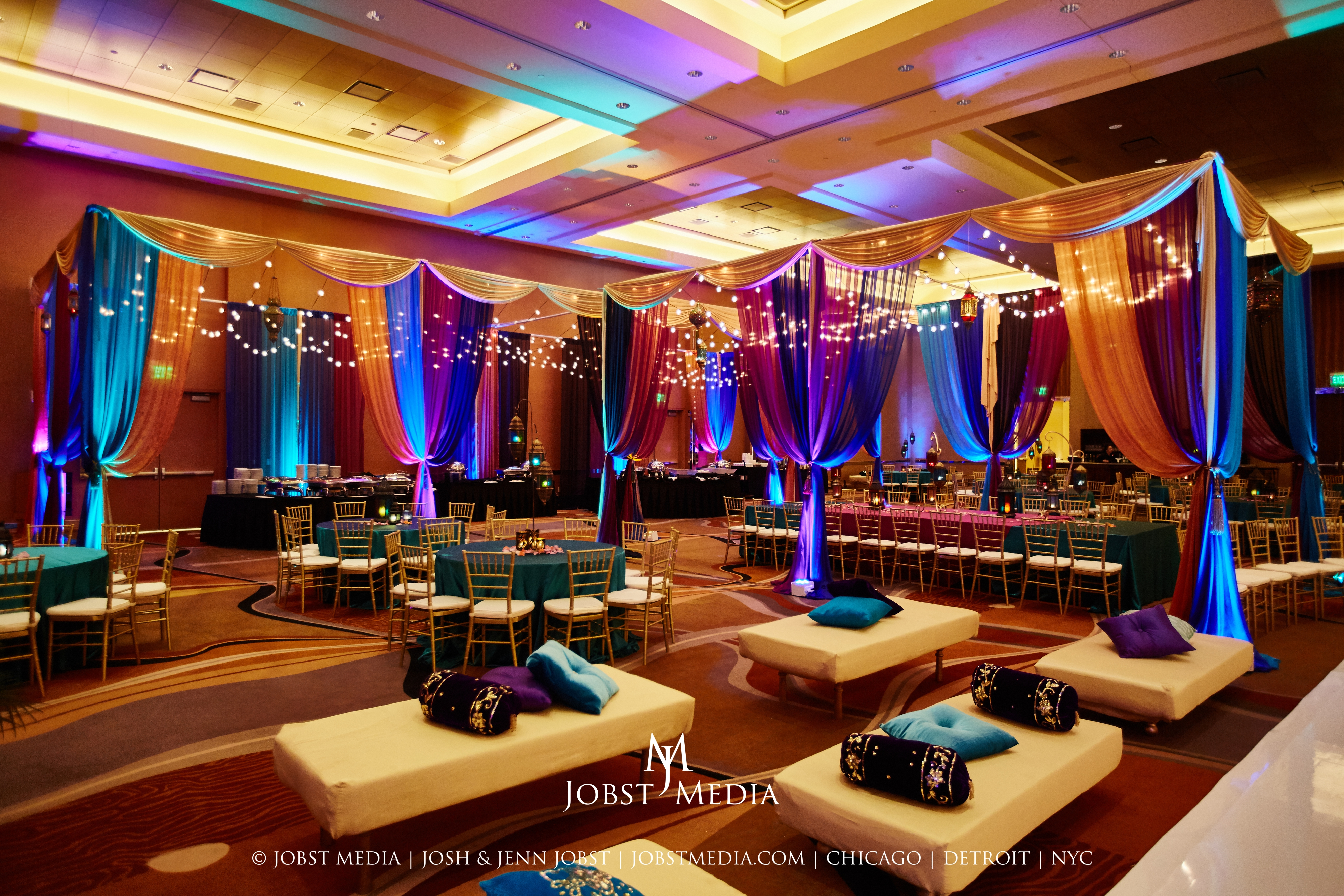 Extravagant Sangeet & Enchanting Indian Wedding at the Westin Book Cadillac Detroit - Yanni Design Studio