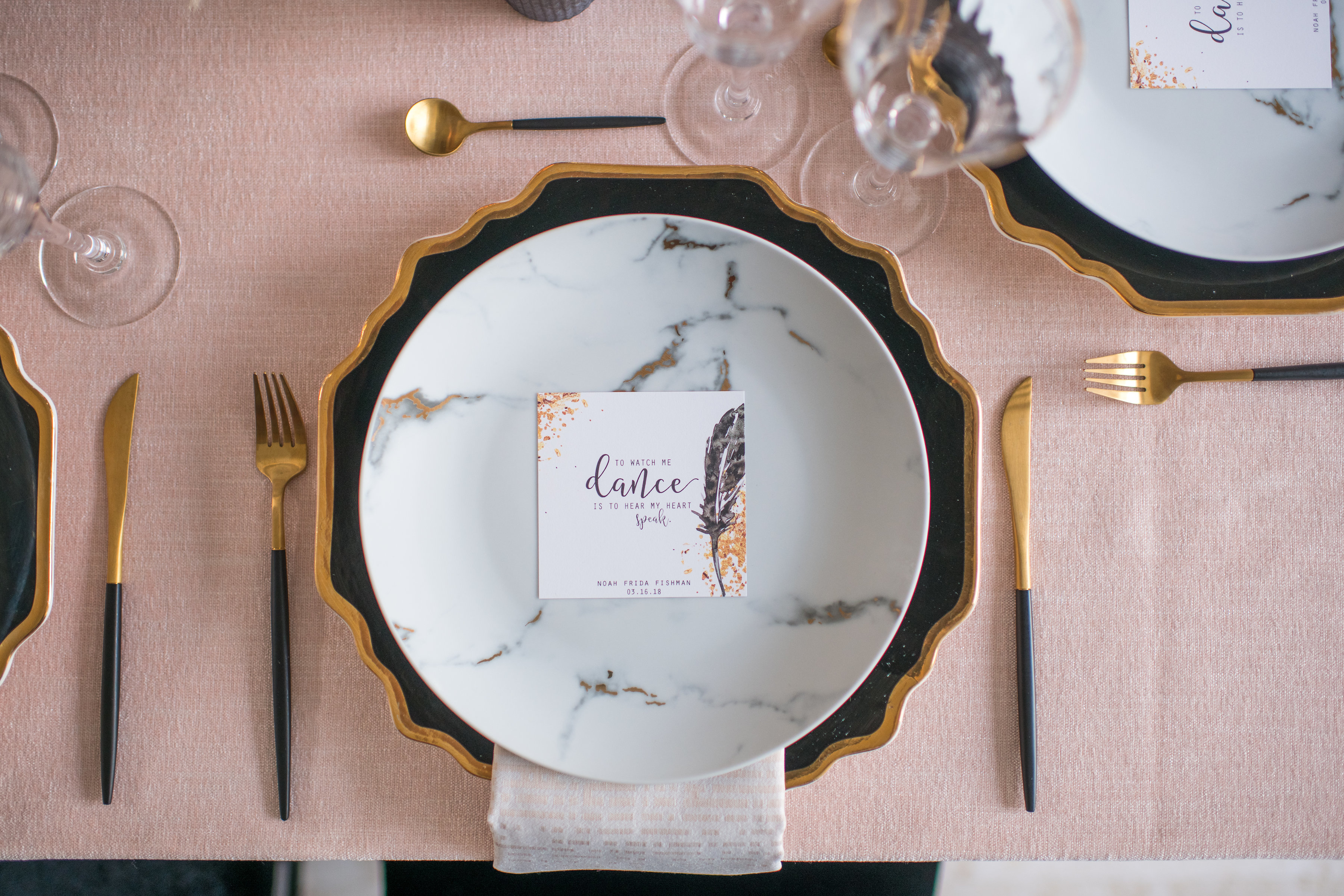 BALLET INSPIRED SHABBAT DINNER - Top It Off Designs