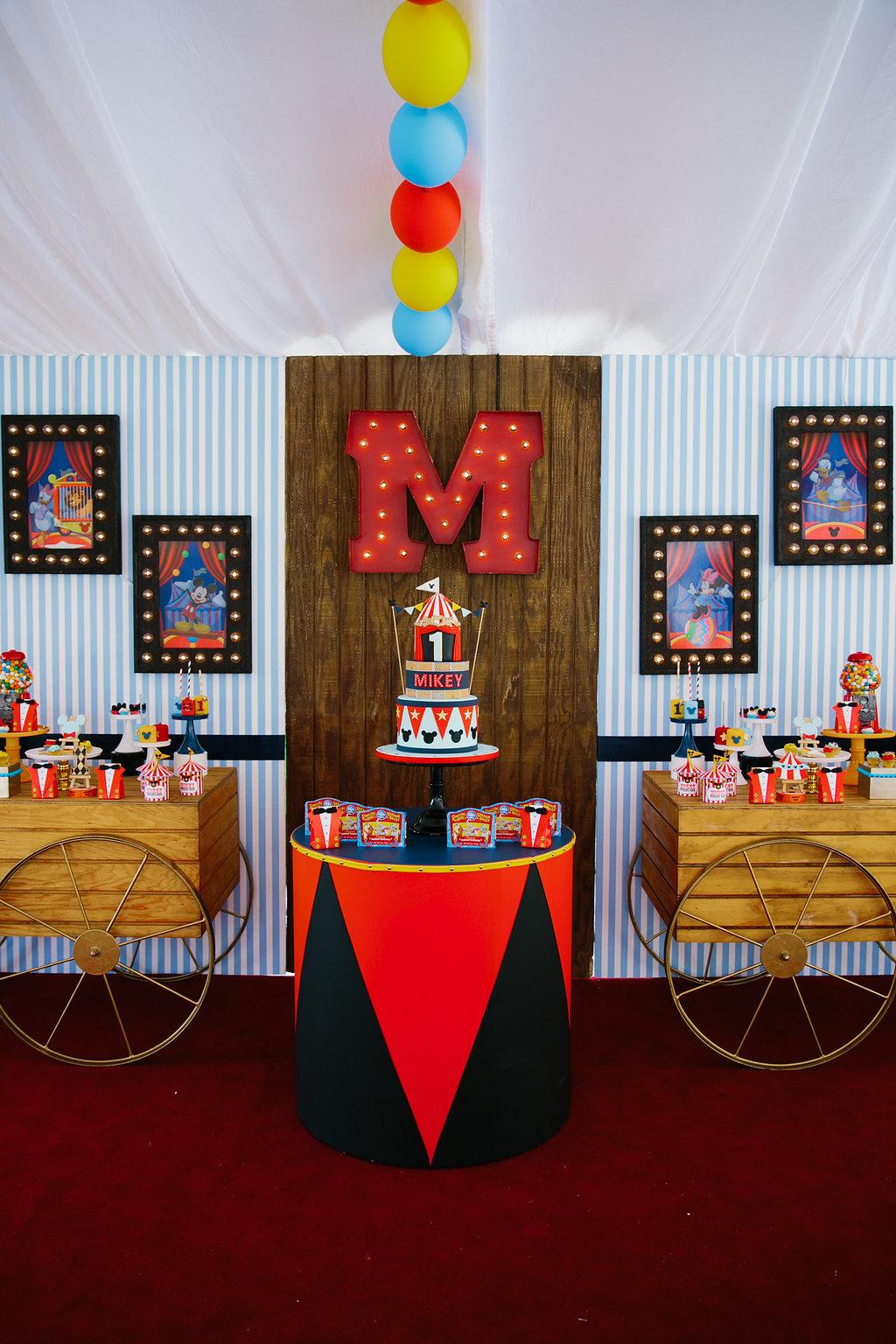 MICKEY'S BIG TOP CIRCUS 1st BIRTHDAY - Top It Off Designs