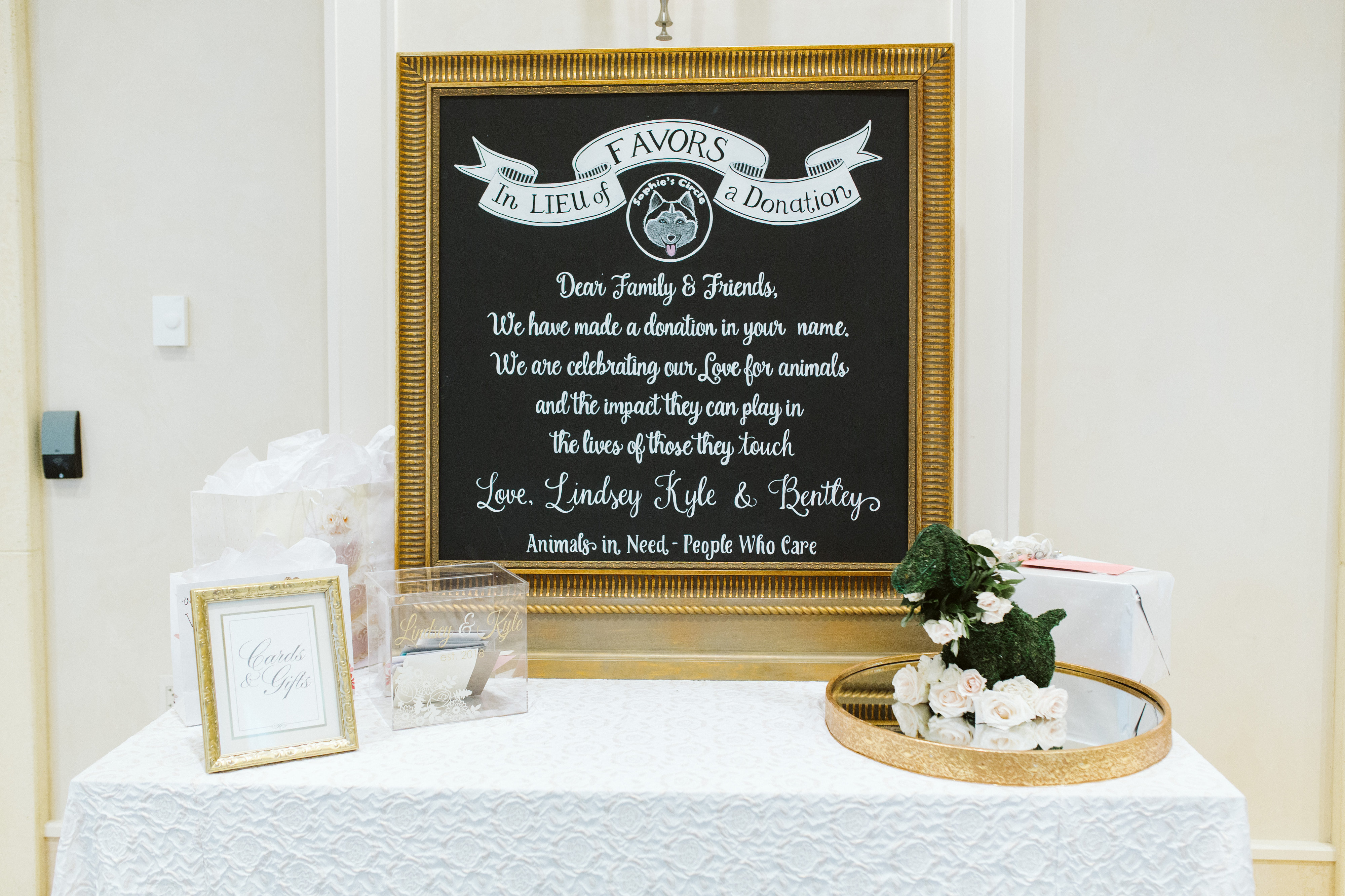 Lindsey and Kyle's Wedding - Chalk Shop