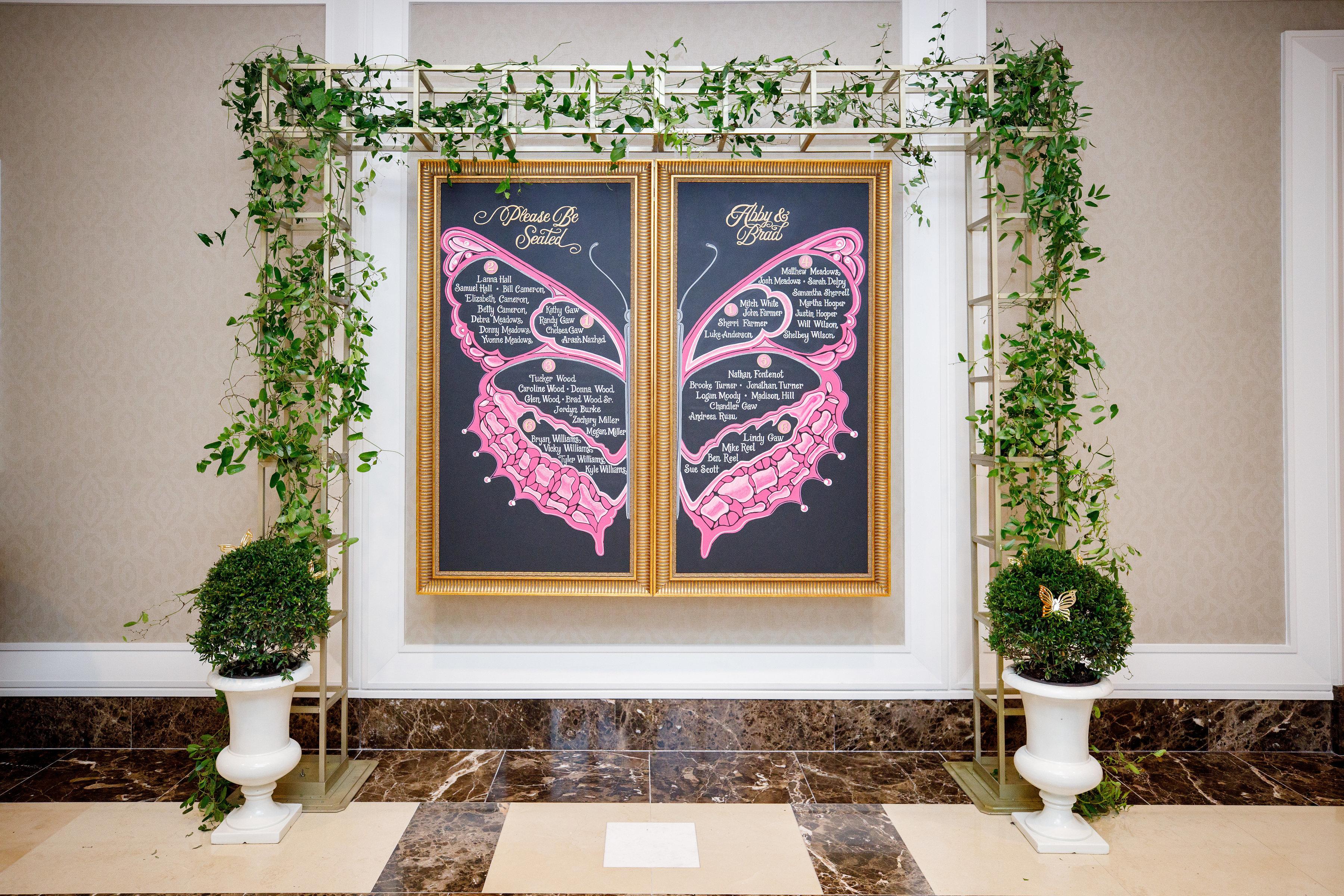 Abby and Brad's Wedding - Chalk Shop