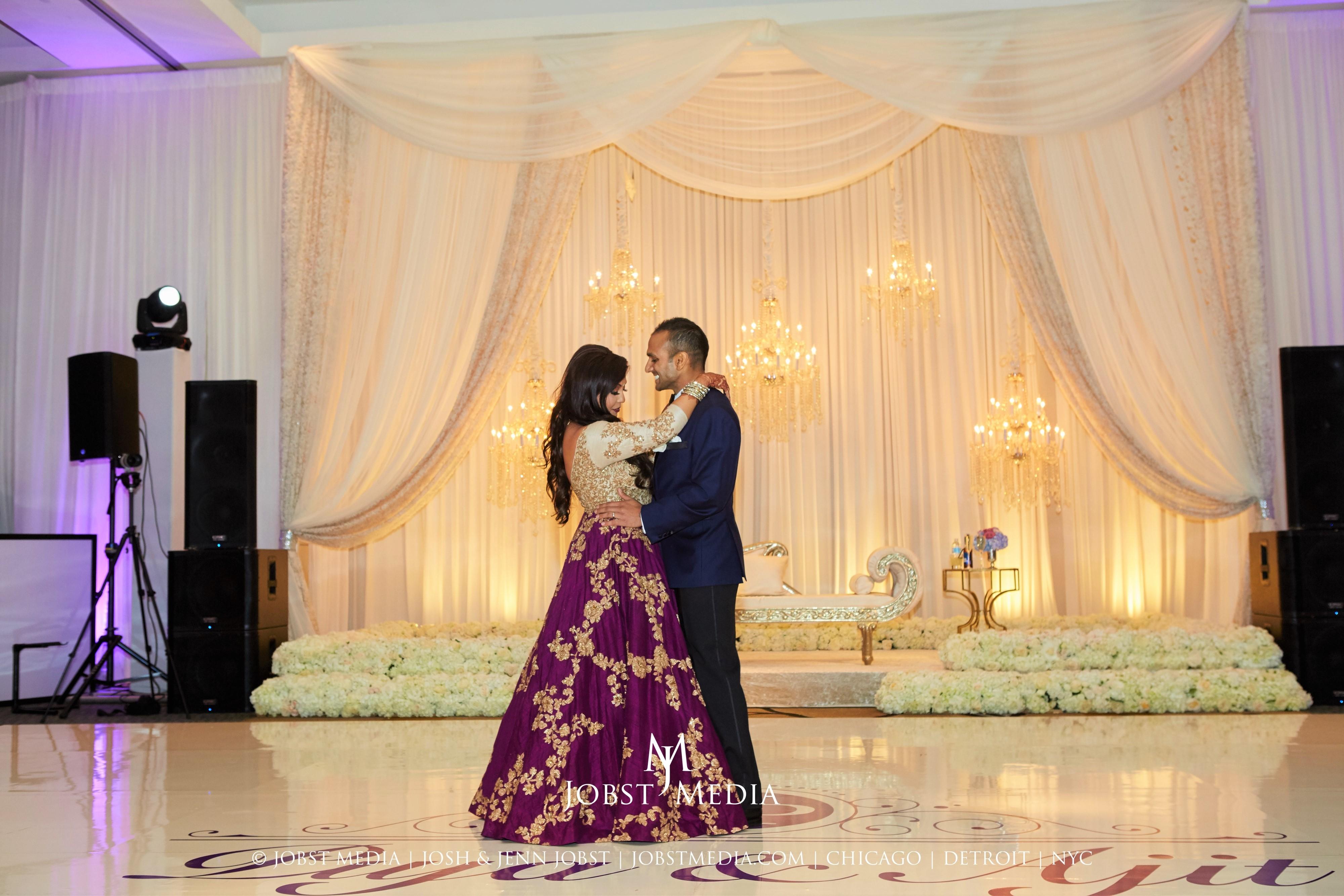 Extravagant Sangeet & Enchanting Indian Wedding at the Westin Book Cadillac Detroit - Yanni Design Studio