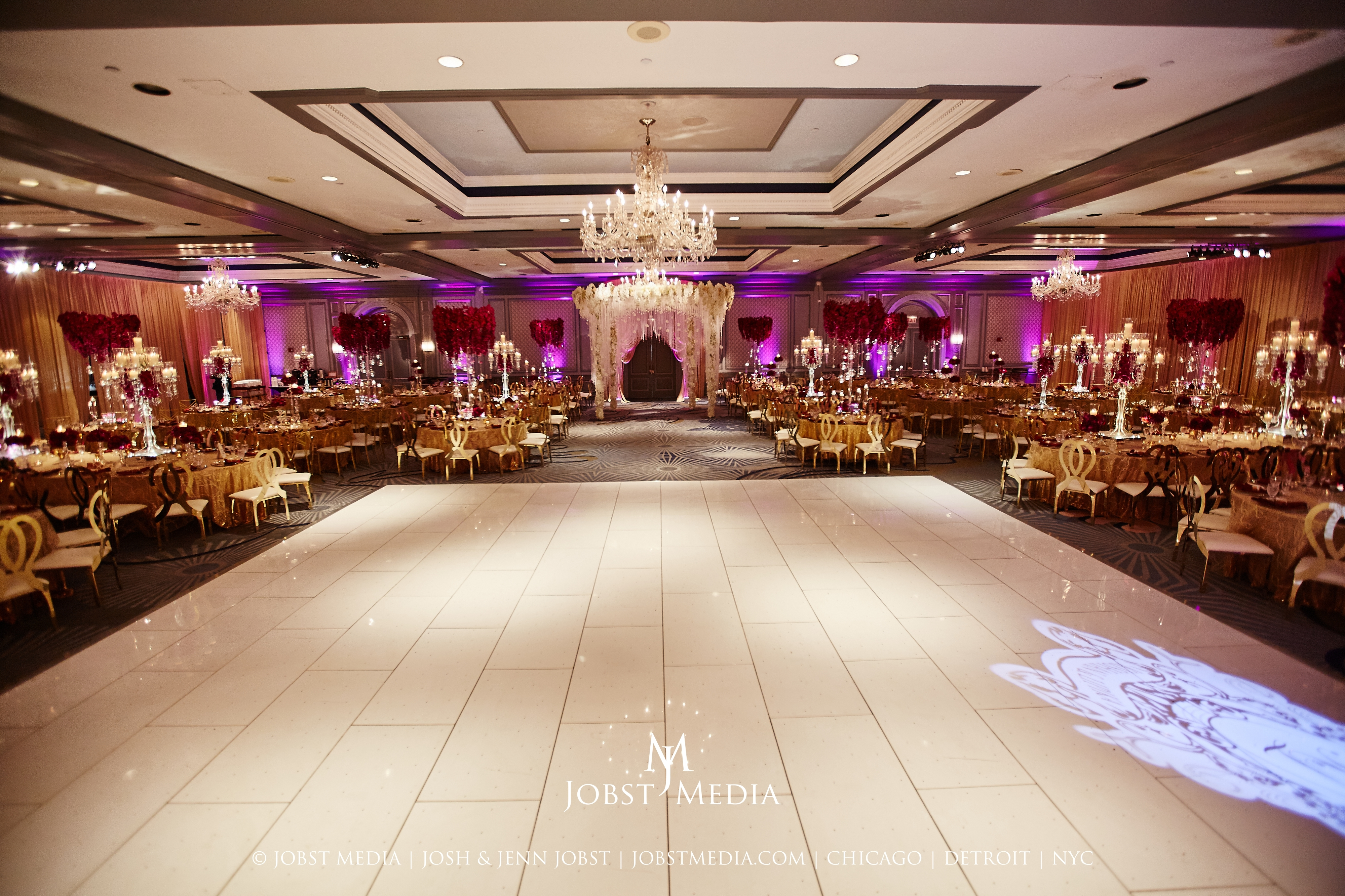 Elegant Indian Wedding Decor at The Henry Hotel in Detroit - Yanni Design Studio