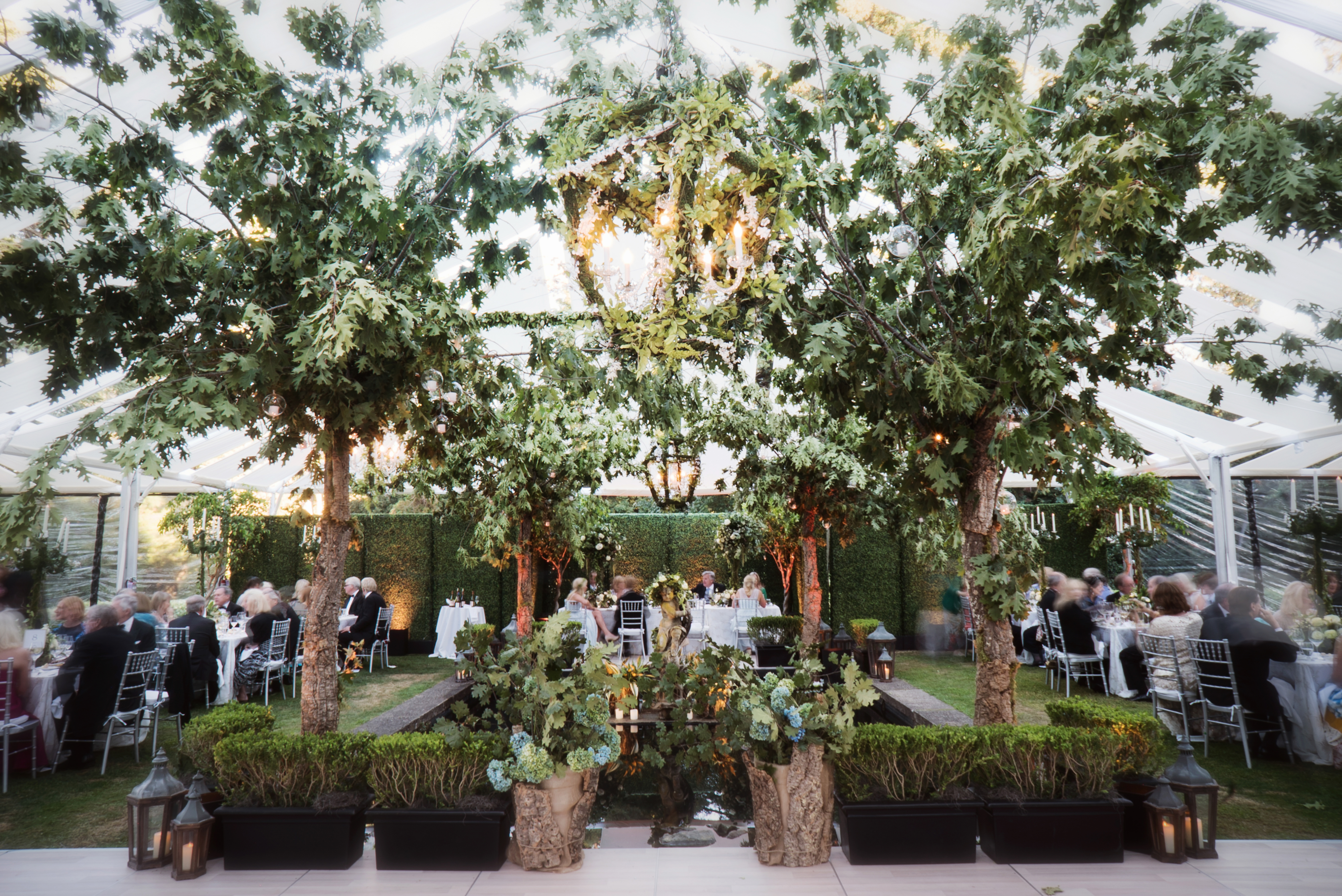 Regal Tented Wedding | Private Club - Andrew Weeks Photography