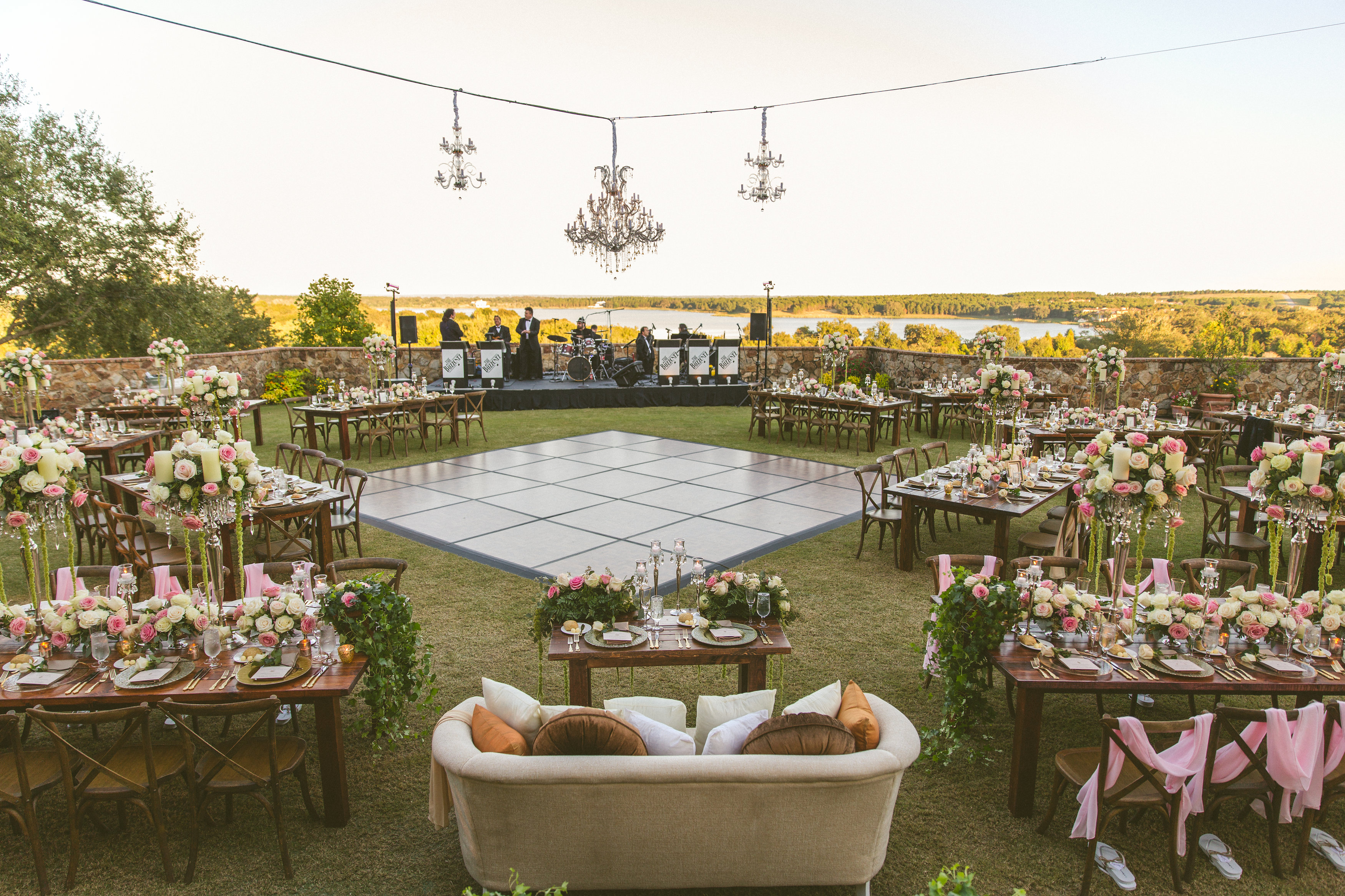 Breathtaking Outdoor Wedding - Signature Chandeliers