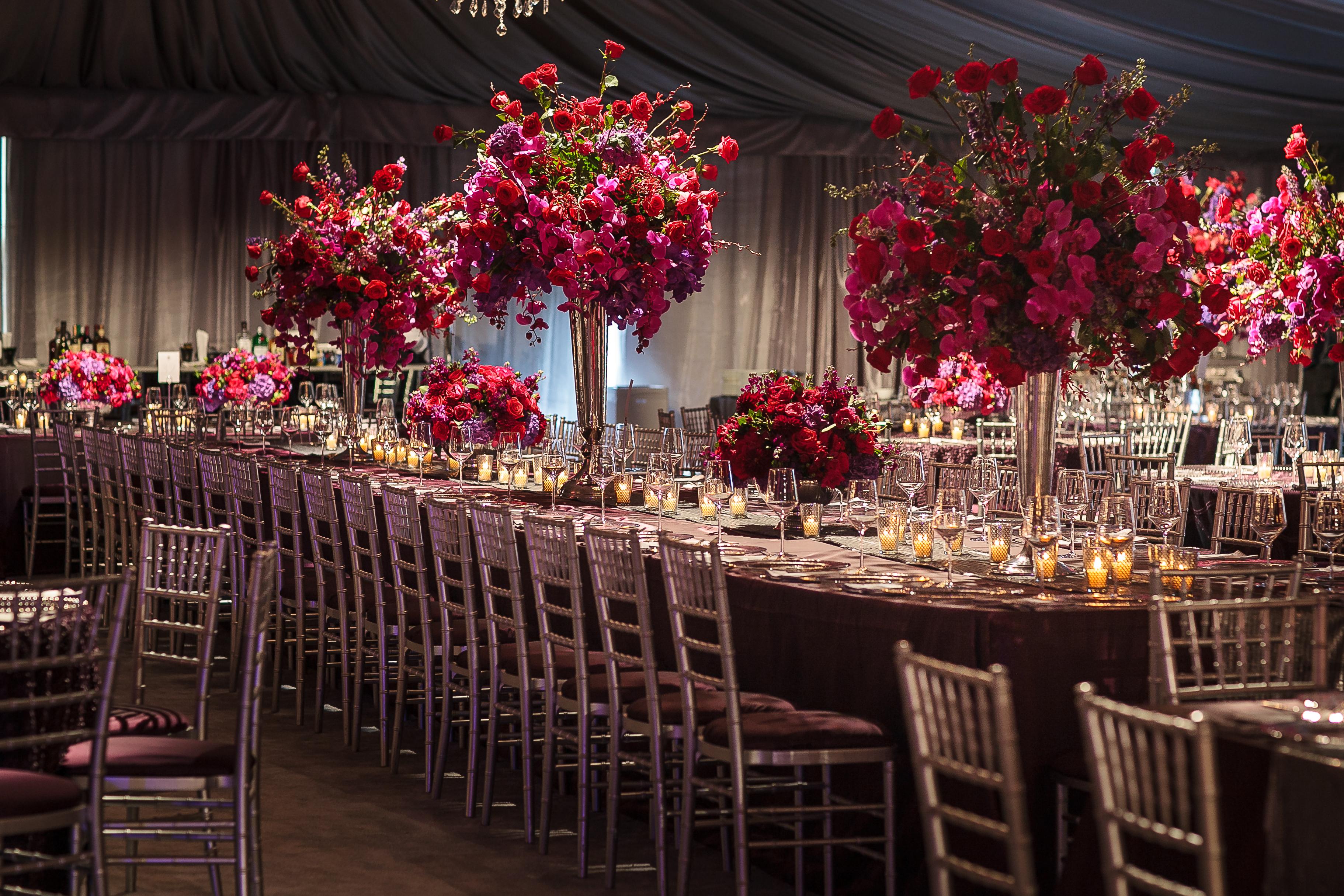 Elegant Tent Wedding - Signature Chandeliers