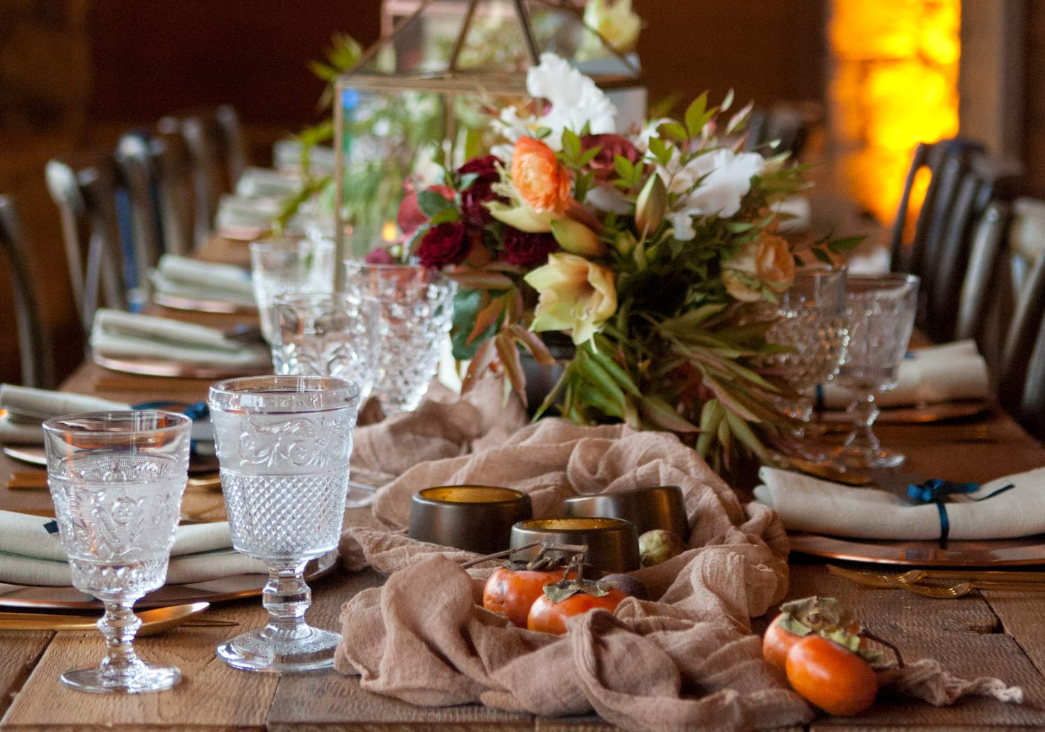 Rustic Autumn with Copper Accents - Stefanie Miles Events