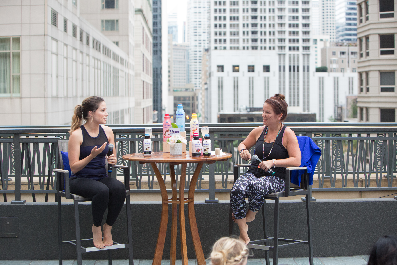 Chicago P.D.'s Sophia Bush and Lifeway CEO Julie Smolyansky host a panel discussion.