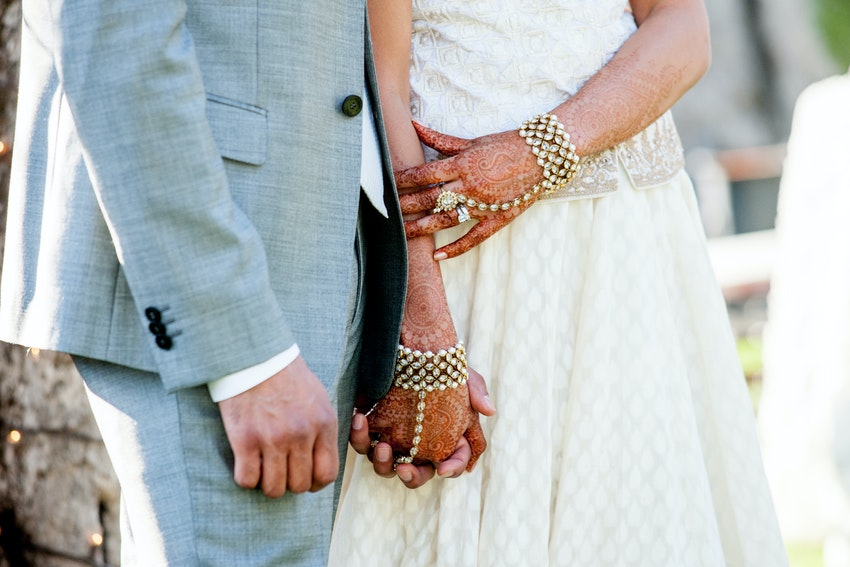 Sujata & Ani hold hands