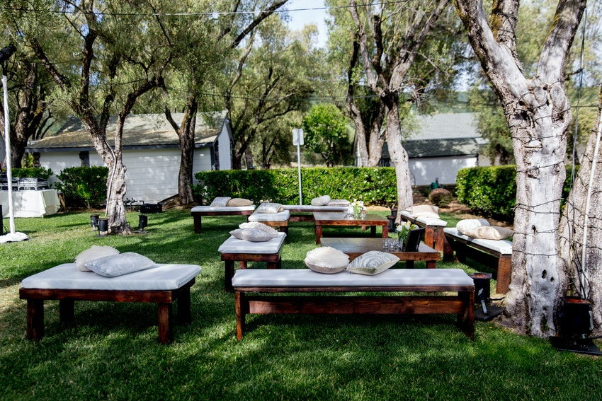 Lounge Seating for Wine Country Wedding