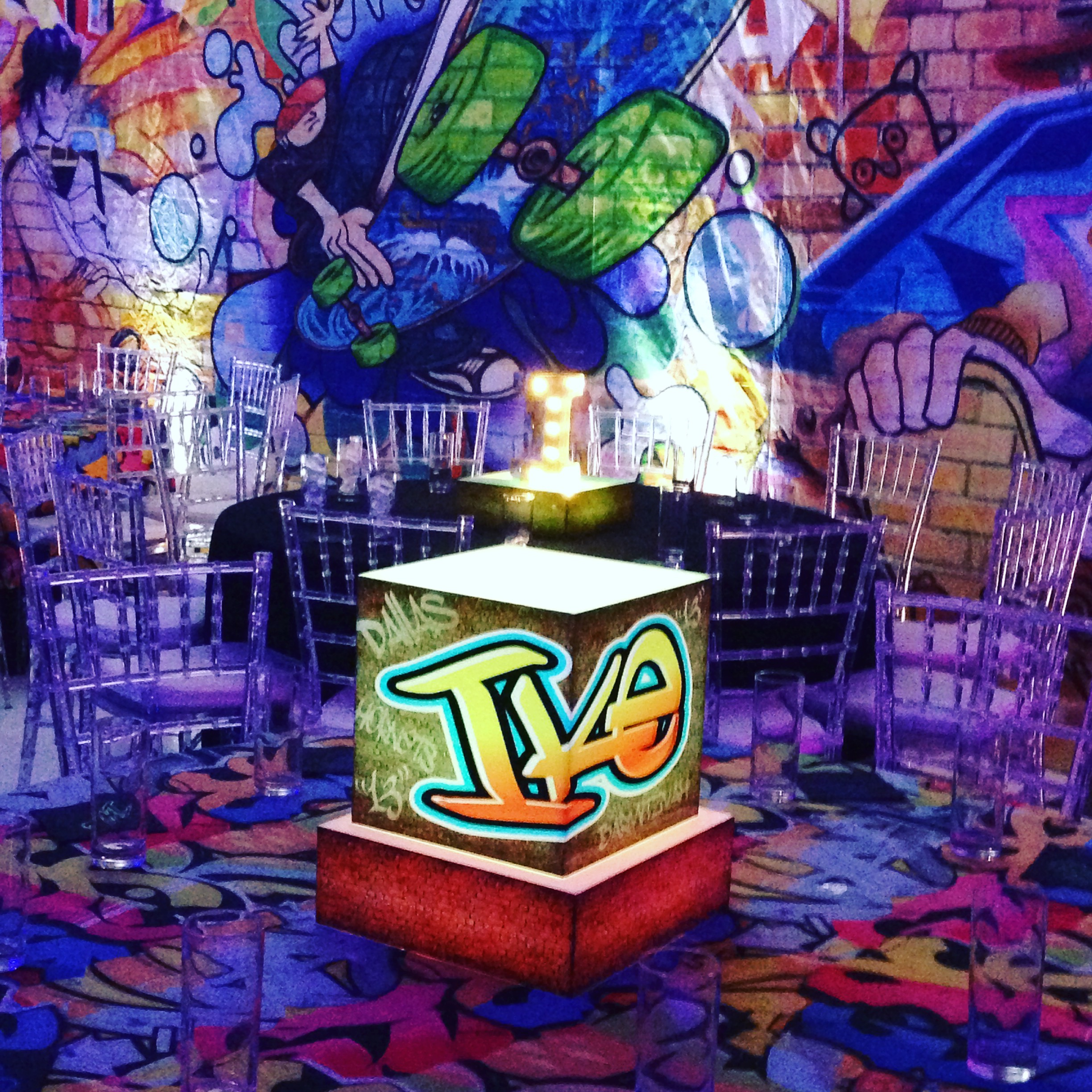 Graffiti Inspired Bar Mitzvah Party