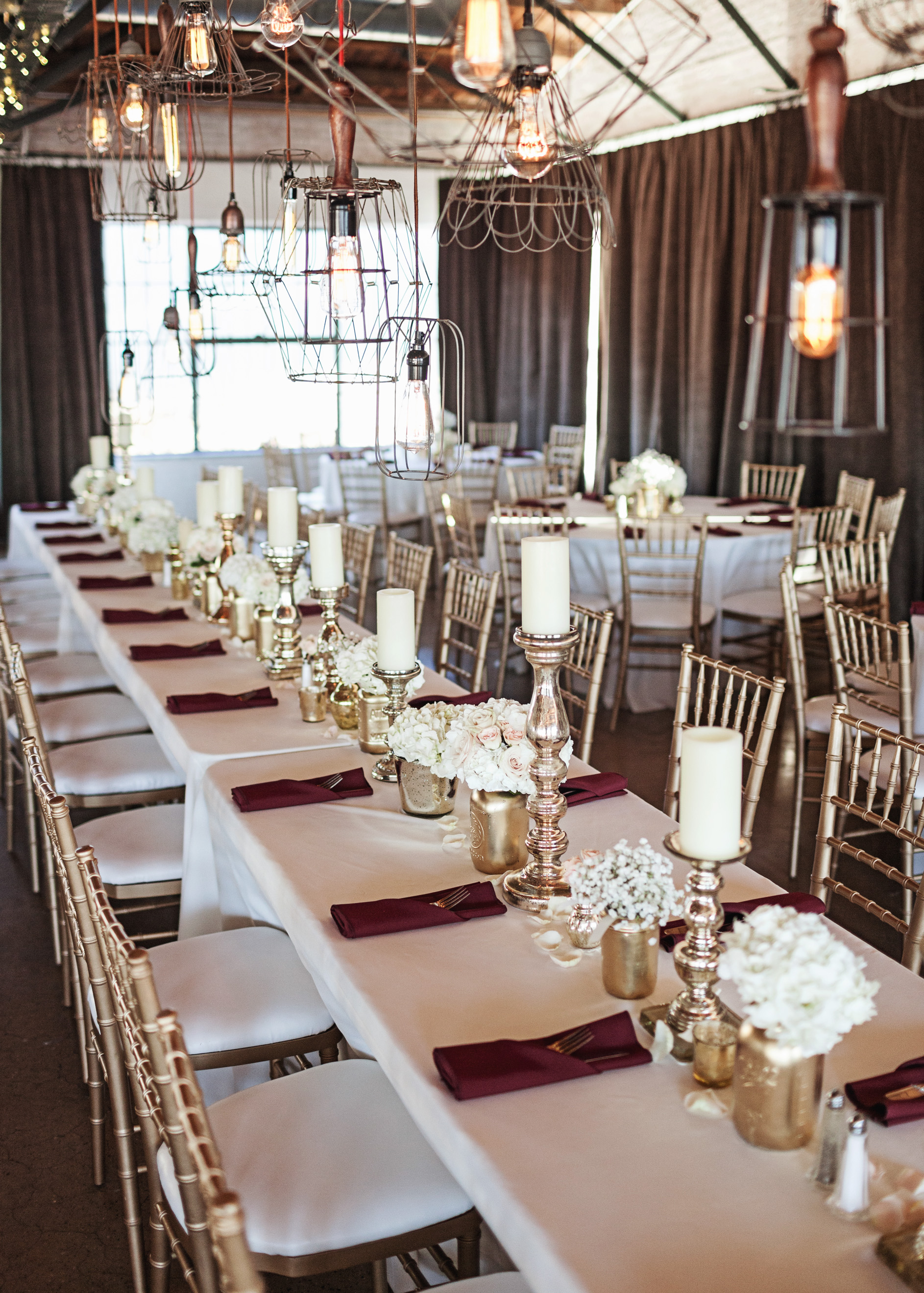 Rustic Chic Gold and White Wedding - Southern Affairs Weddings and Events