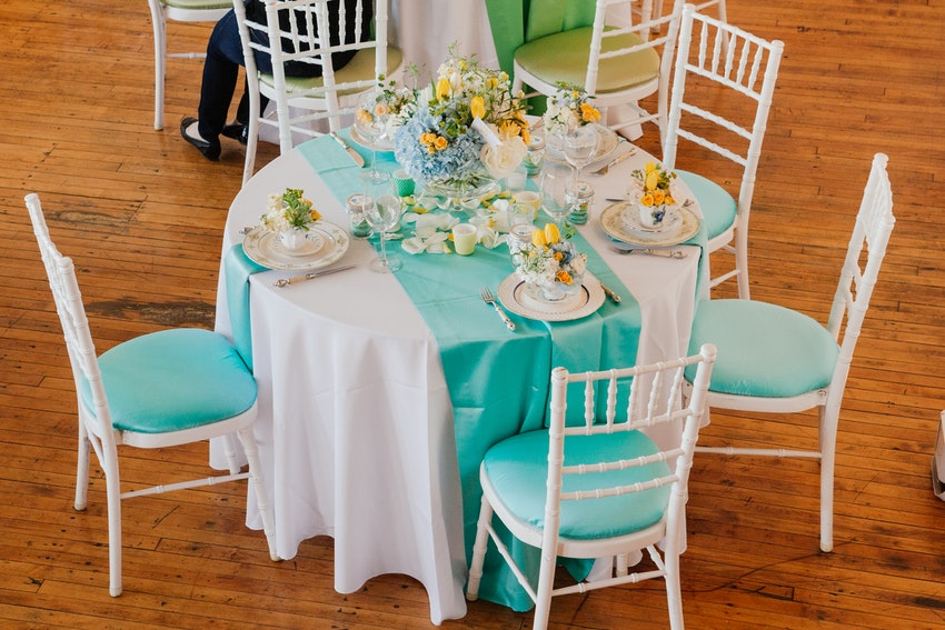 Lovely baby shower luncheon table designed by Christine Janda