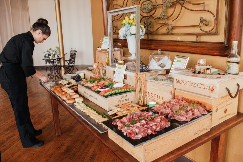 Outstanding charcuterie and hors d'oeuvres catering display by Truffleberry Market.