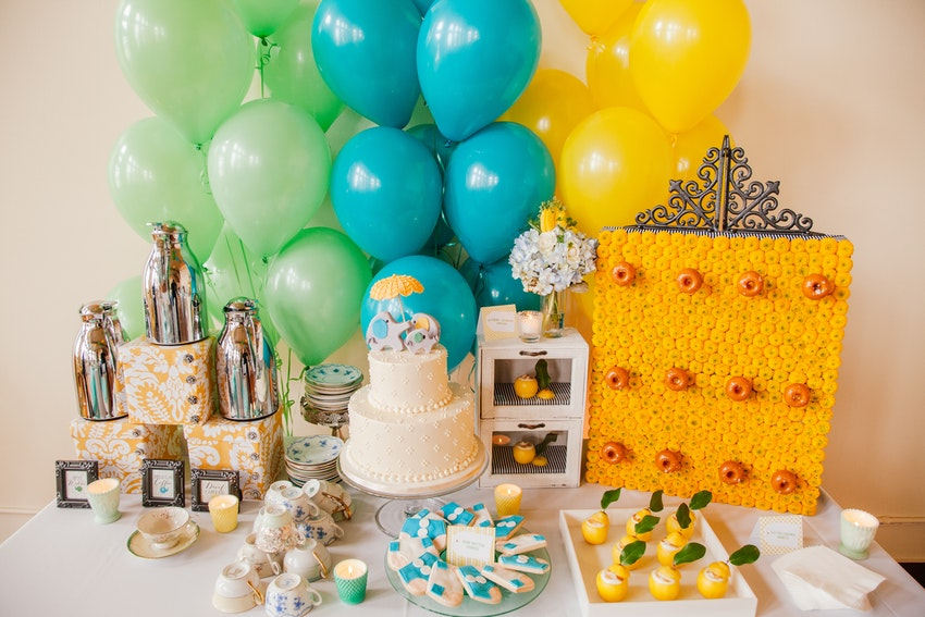 Amazing baby shower sweets table.