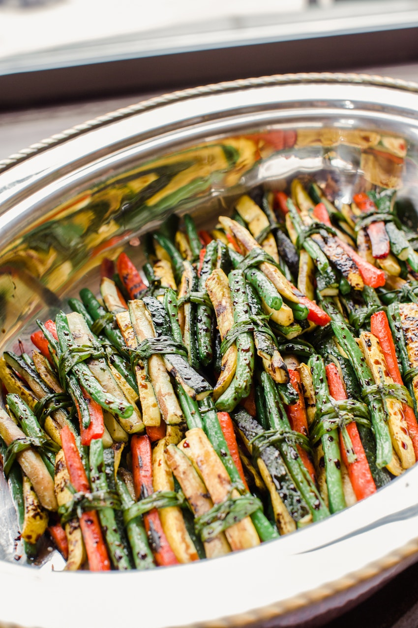 Amazing grilled vegetable bundles by Truffleberry Market catering