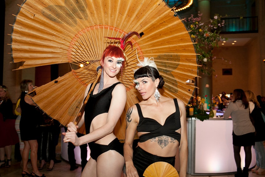 Our beautiful pole dance artists strutting their stuff before taking to the pole