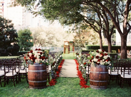Rustic Red Wedding - Marie Gabrielle Restaurant & Gardens