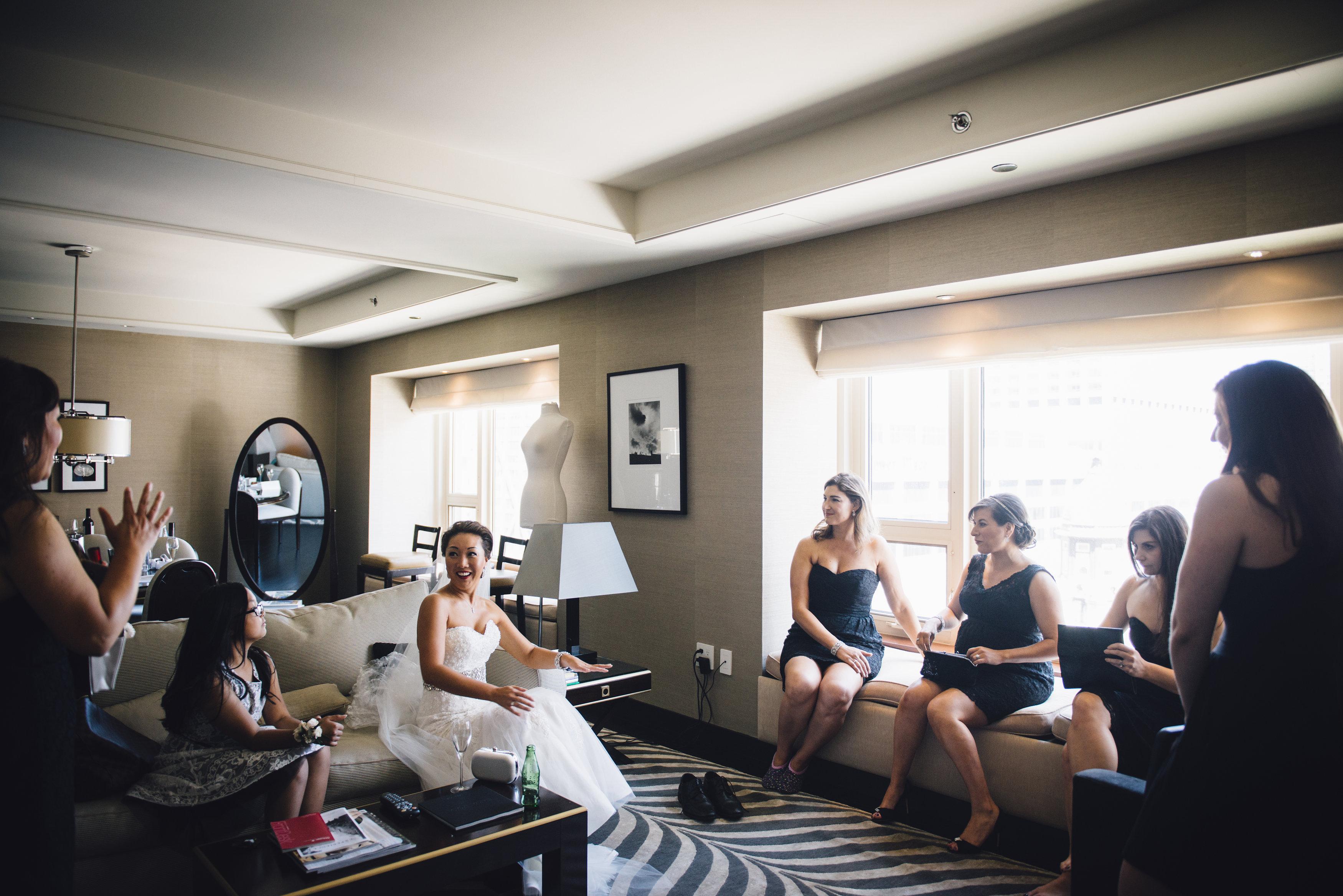 Retting ready in one of Park Hyatt Chicago's Designer Suites