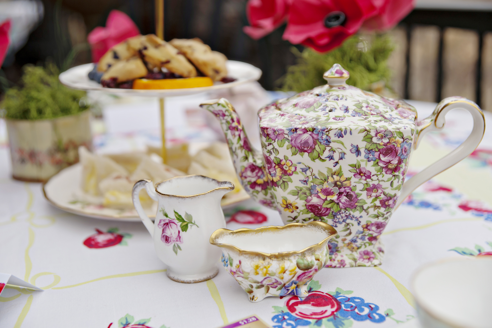 Tea Time Red Poppy Wedding at Castle - Andie Freeman Photography