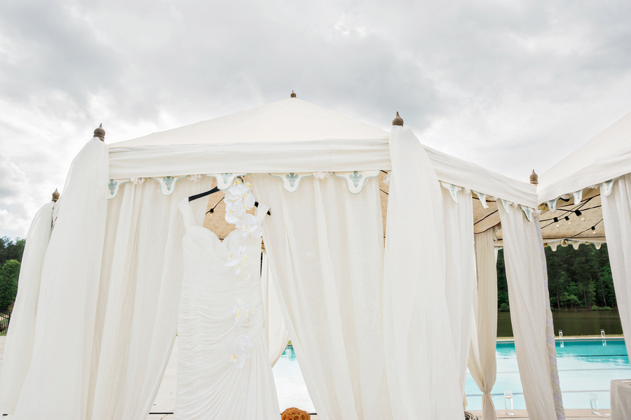 Poolside Wedding with Tropical Flair - Andie Freeman Photography