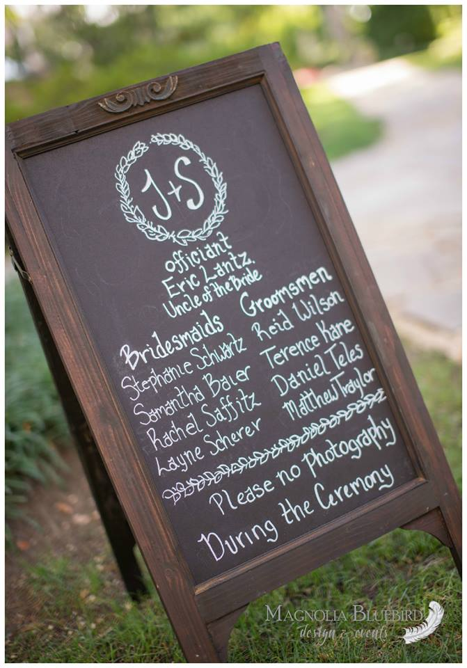 J + S Wedding - Magnolia Bluebird design & events