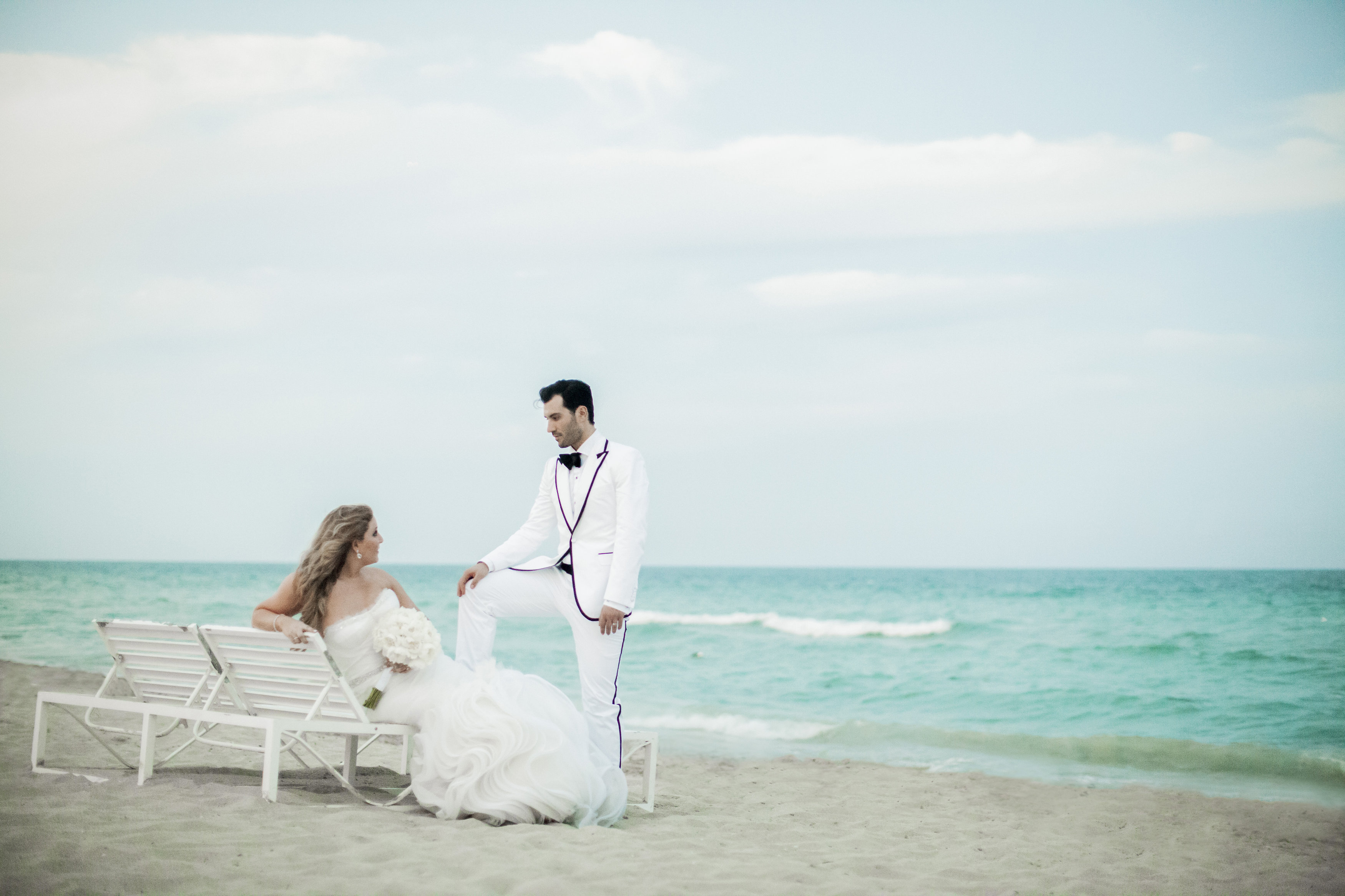 Ocean Monochrome: Miami Beach Wedding - Chris Weinberg Events