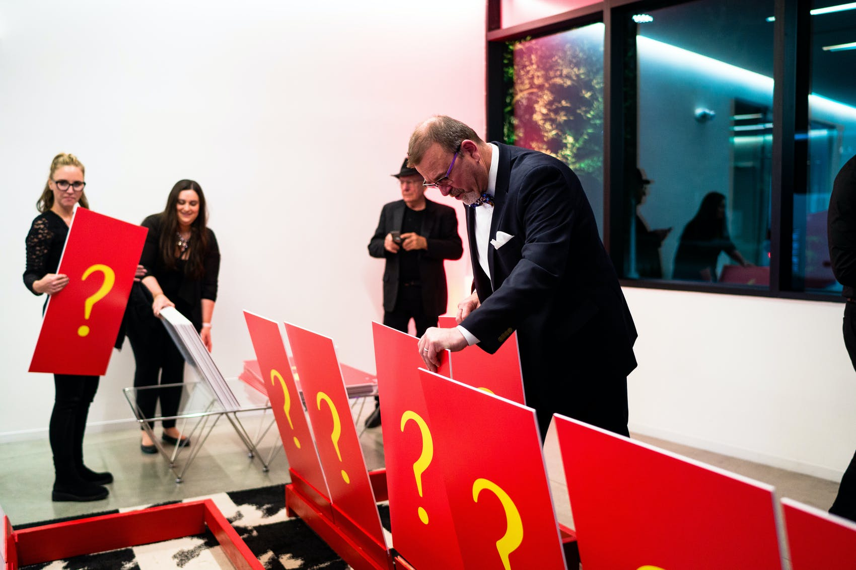 giant guess who game at corporate event