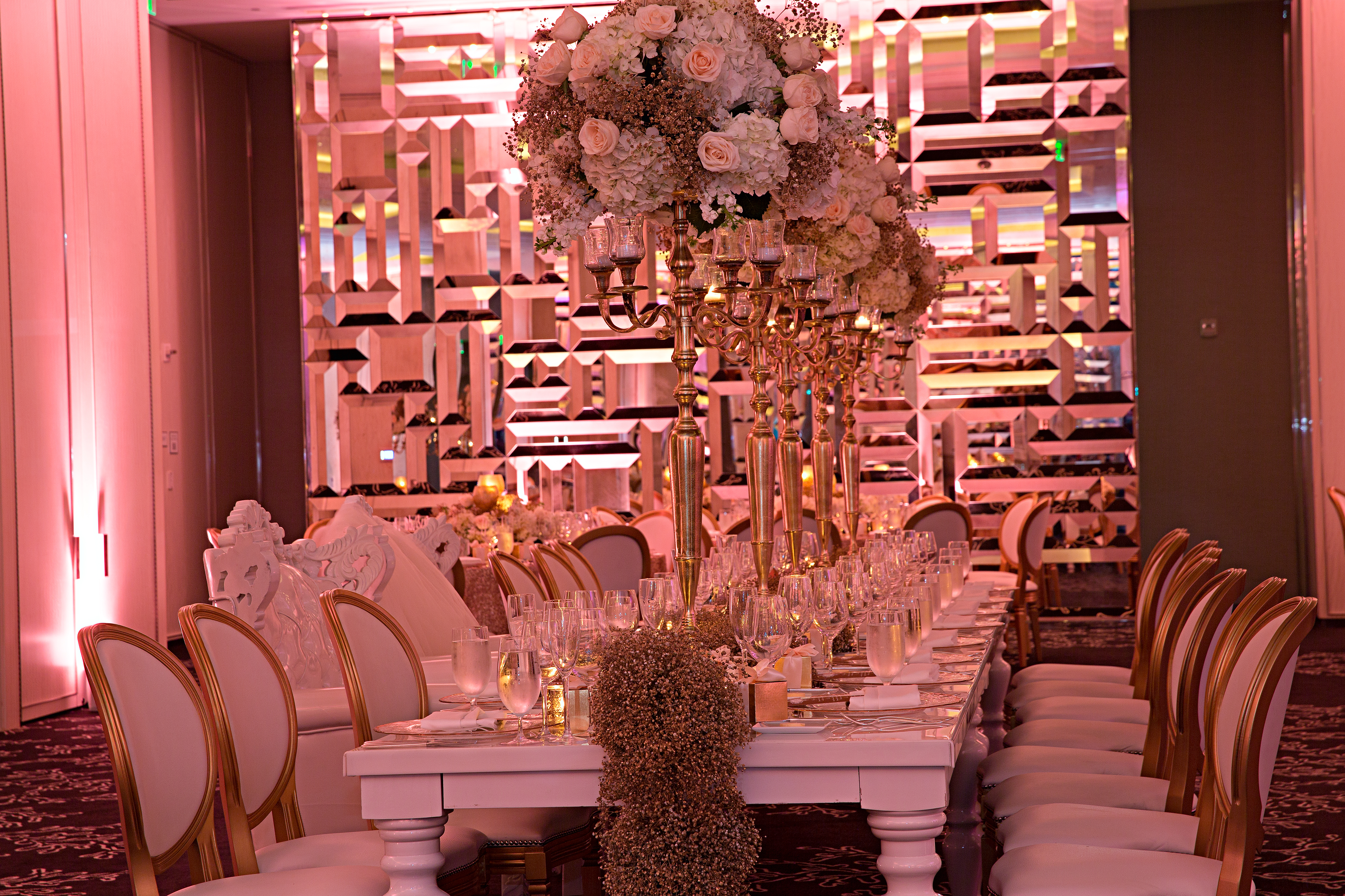 Gold South Beach Miami Wedding - Table 6 Productions – Florida