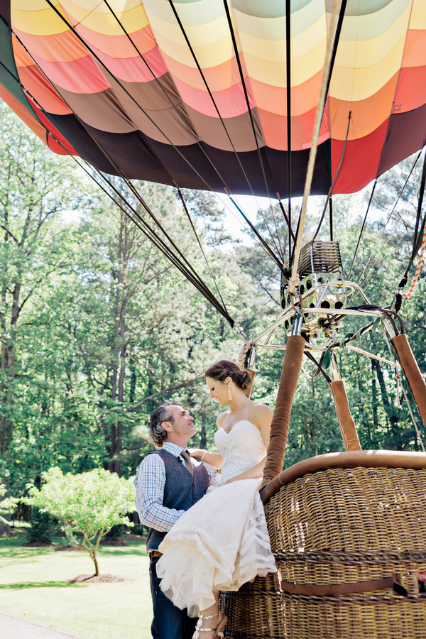 Bohemian Hot Air Balloon Wedding - Andie Freeman Photography