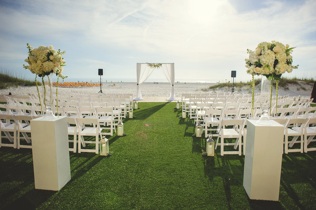 Elegant Beach Wedding at Sandpearl Resort - Table 6 Productions – Florida