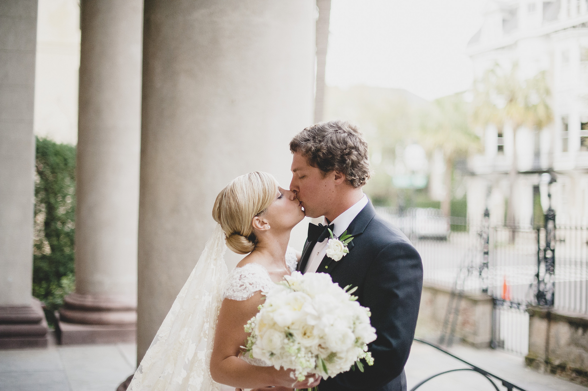 The special kiss right after exiting the church from the ceremony!