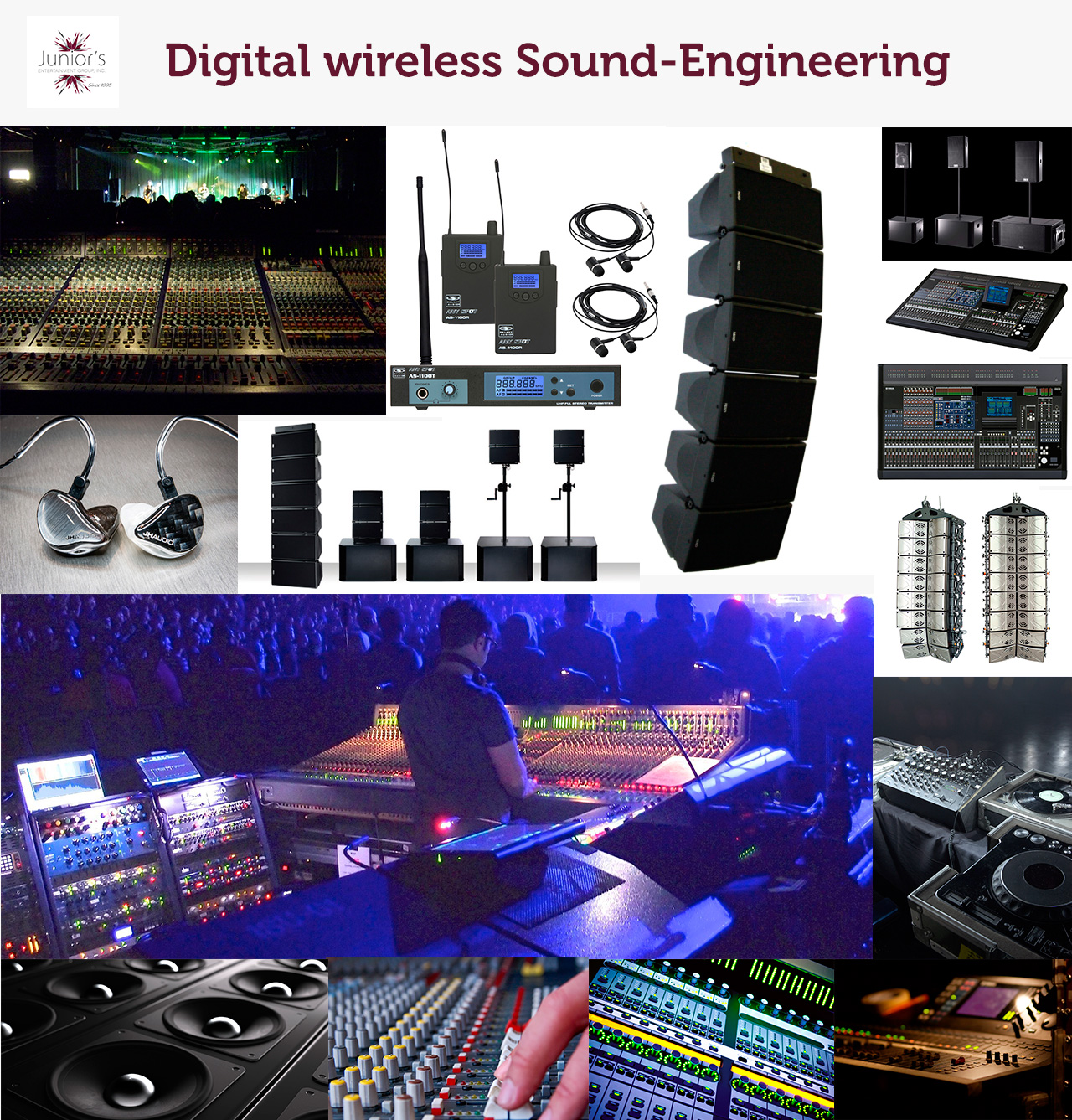 State-of-the-art wireless Sound Systems with latest technology operated by Top Sound Engineers