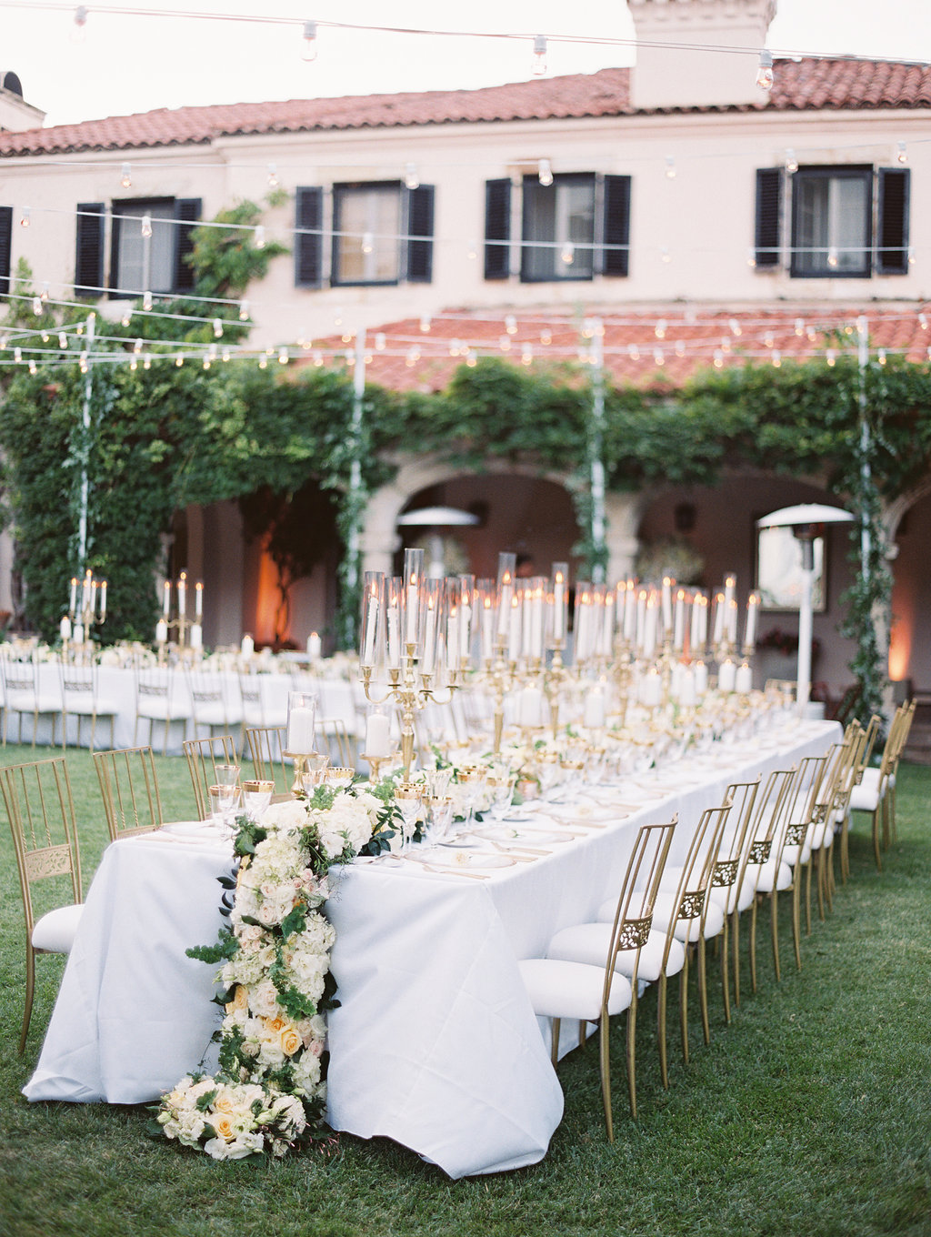 French inspired, outdoor reception at private estate