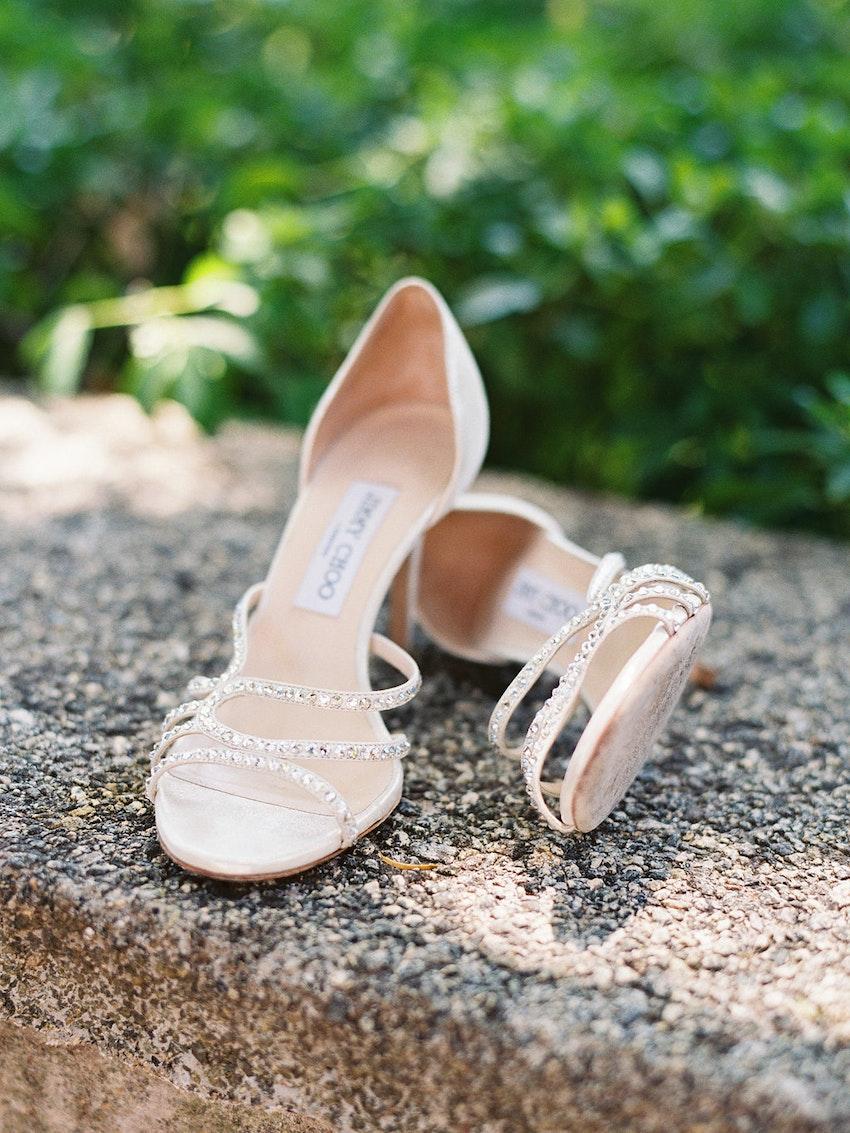 Bride's shoes, Jimmy Choo