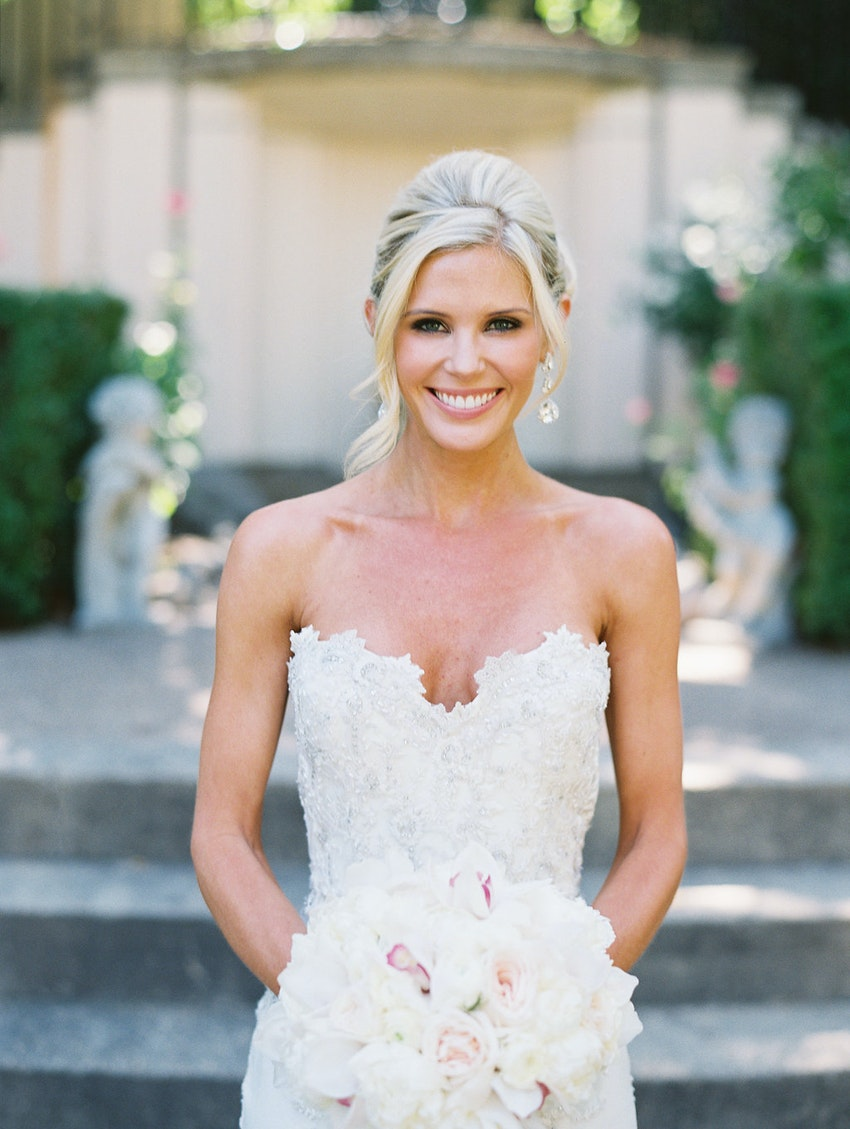 Gorgeous bride, and also the sweetest