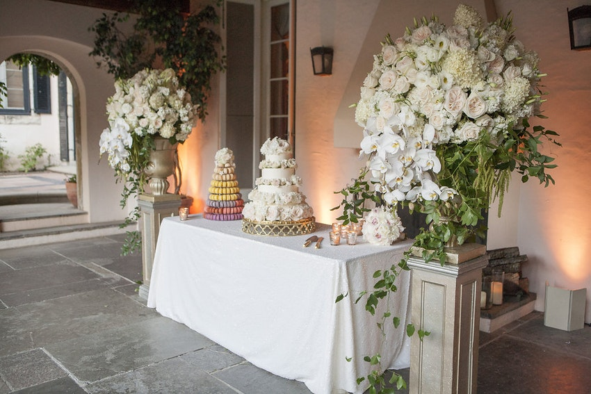 Wedding cake and Macaron tower