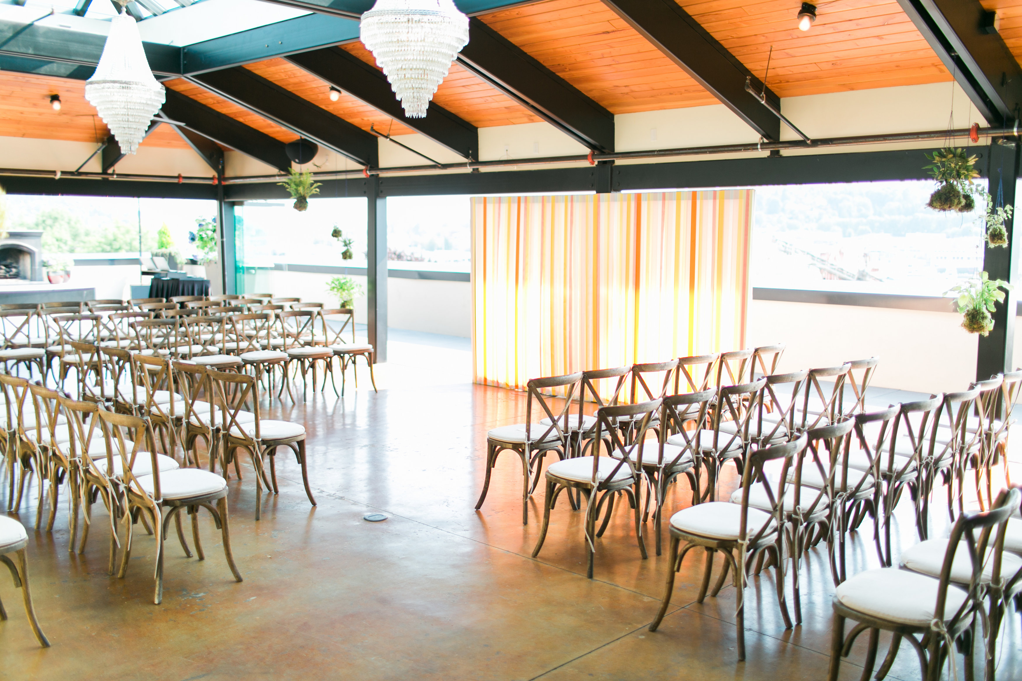 Bright & Playful Summer Wedding - Olympic Rooftop Pavilion by Stoneburner