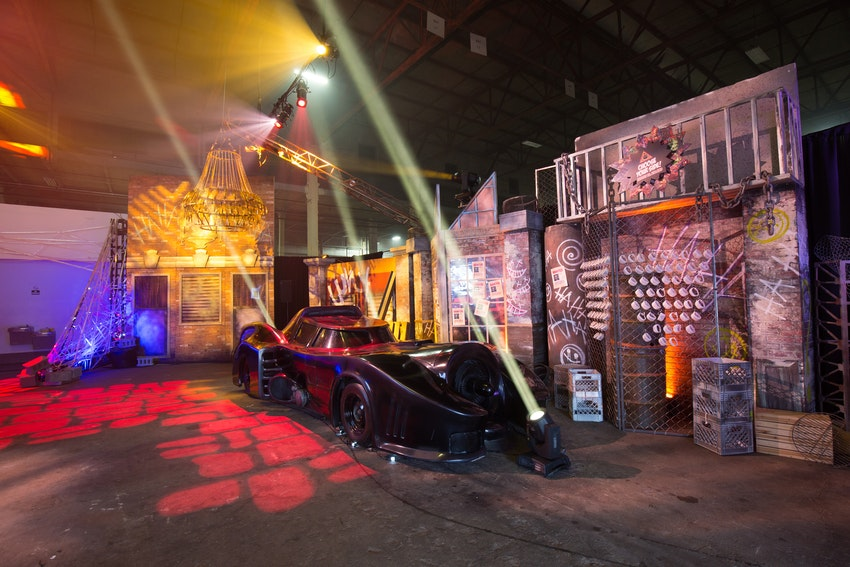 Guest were able to get right into the superhero vs. villain mode as soon as they entered the venue. With erie Joker wall designs, and a lit up Batmobile to greet the guest it was a sight to see right from the start!