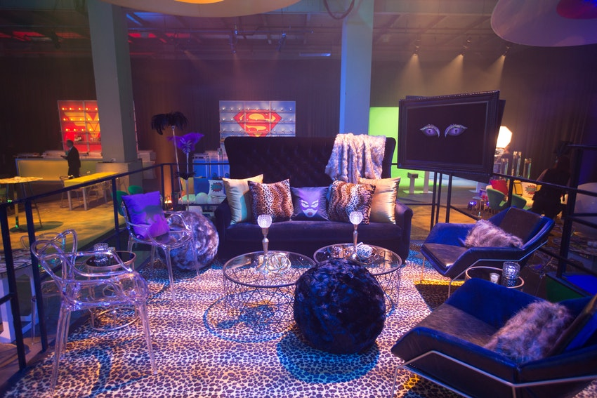 This Cat Woman lounge was one of two designated lounging areas for guest to relax and enjoy the party.