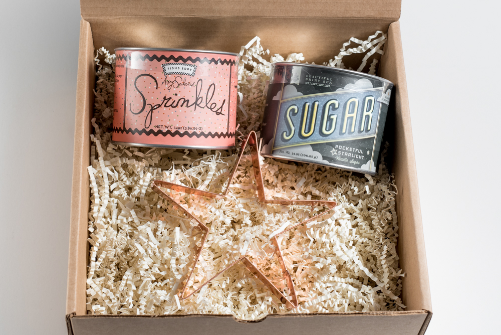 "You're a Star! Everything is better with sprinkles, right? Let that special someone know you think they're the best with our ""You're a Star"" fussbox. These ""I Like You"" sprinkles, Pocketful of Starlight vanilla sugar and star copper cookie cutter are the perfect fuss for any birthday girl, hostess or friend!"