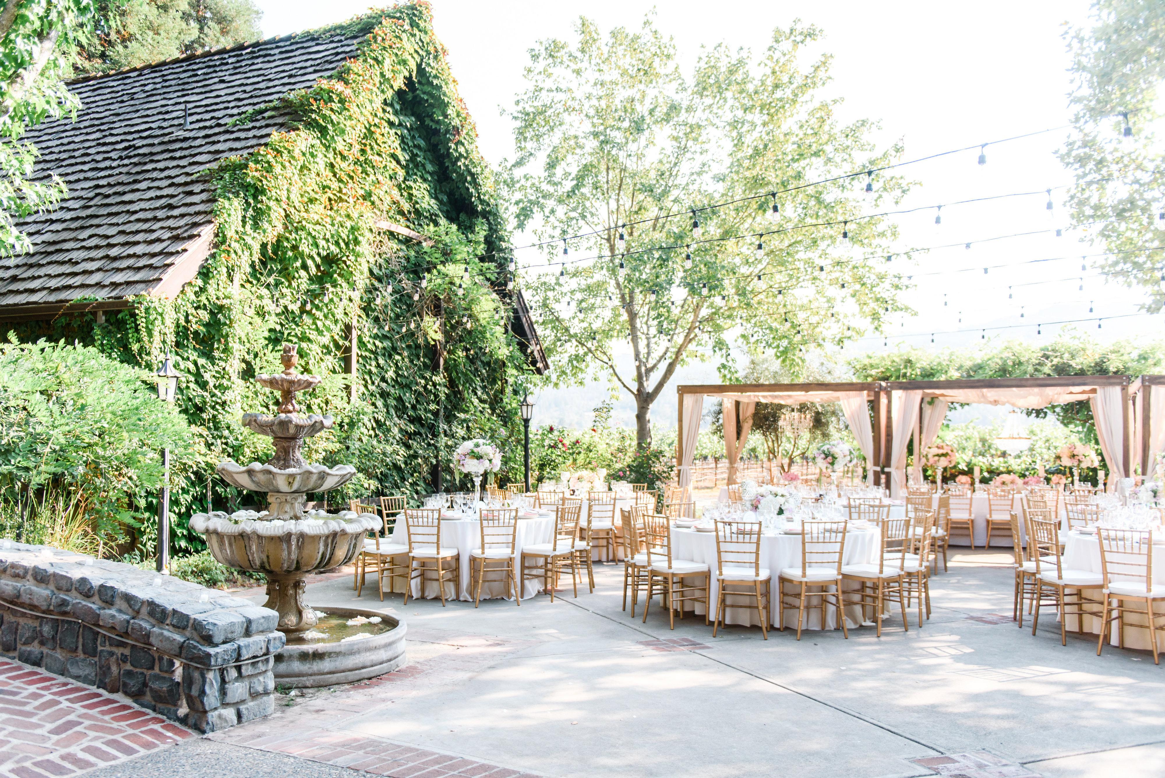 Harvest Inn Napa Blush Luxe Wedding - Weddings by Scott & Dana